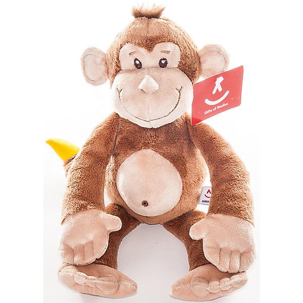 Мягкая игрушка Обезьянка с бананом, 33 см., AURORAМягкие игрушки животные<br>Веселая и очаровательная обезьянка обязательно понравится всем детям. Мягкая, приятная на ощупь игрушка выполнена из высококачественных экологичных материалов. Она станет отличным новогодним подарком, ведь 2016 год будет годом «обезьяны».<br><br>Дополнительная информация:<br><br>- Материал: мех, пластик, синтепон.<br>- Размер: 33 см.<br><br>Мягкую игрушку Обезьянку с бананом, 33 см., AURORA (Аврора) можно купить в нашем магазине.<br>Ширина мм: 90; Глубина мм: 110; Высота мм: 190; Вес г: 155; Возраст от месяцев: 36; Возраст до месяцев: 192; Пол: Унисекс; Возраст: Детский; SKU: 4251460;