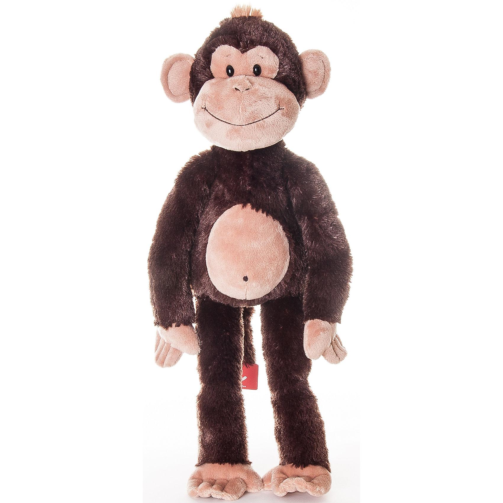 AURORA Мягкая игрушка Обезьянка Чарли, 30 см., AURORA большую мягкую игрушку собаку лежа в москве