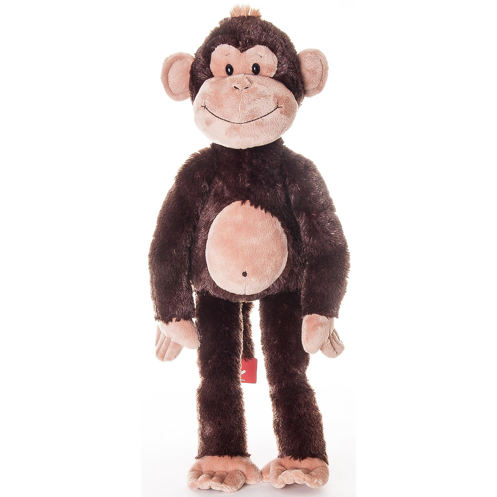 AURORA Мягкая игрушка Обезьянка Чарли, 40 см., AURORA большую мягкую игрушку собаку лежа в москве