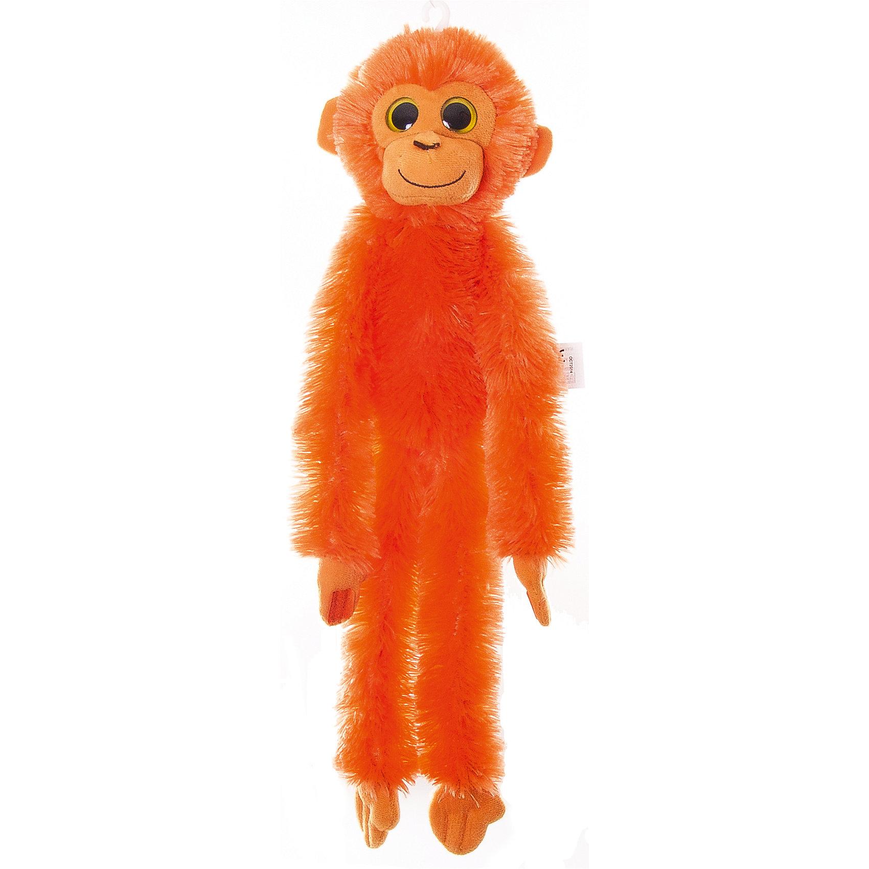 AURORA Мягкая игрушка Шимпанзе оранжевый, 50 см., AURORA большую мягкую игрушку собаку лежа в москве