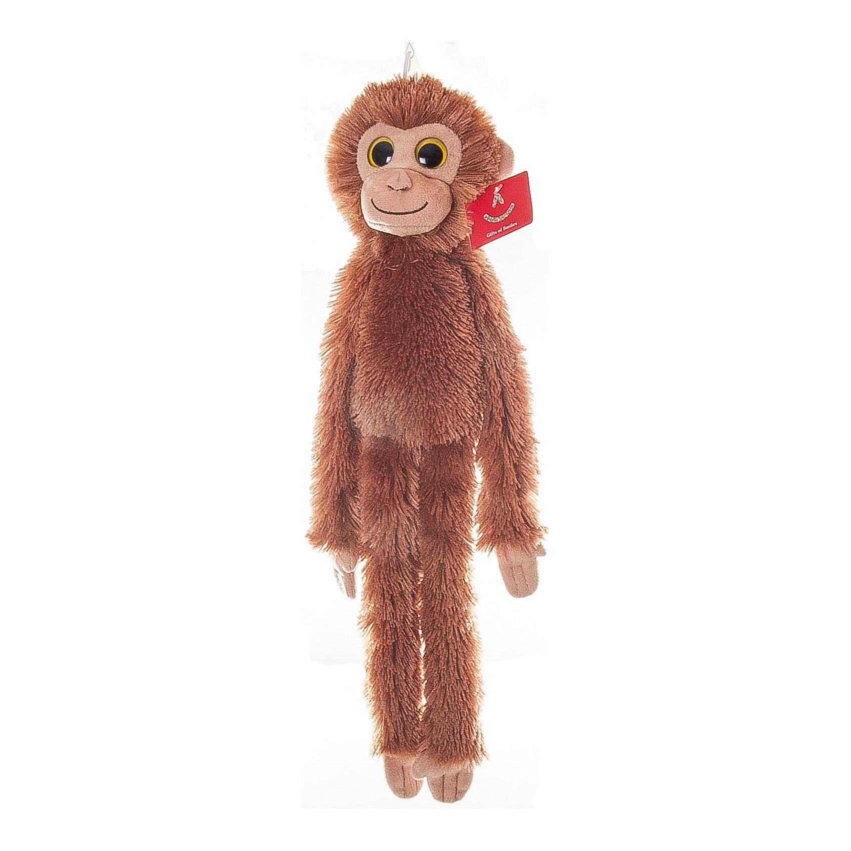 Мягкая игрушка Шимпанзе коричневый, 50 см., AURORAОчаровательная обезьянка с веселой мордочкой и мягкой шёрсткой обязательно понравится малышам. Игрушка сшита из высококачественного гипоаллергенного плюша и безопасна даже для маленьких детей. Она станет отличным новогодним подарком, ведь 2016 год будет годом «обезьяны». <br><br>Дополнительная информация:<br><br>- Материал: мех, пластик, синтепон.<br>- Размер: 50 см.<br><br>Мягкую игрушку Шимпанзе оранжевого 50 см., AURORA (Аврора) можно купить в нашем магазине.<br><br>Ширина мм: 100<br>Глубина мм: 300<br>Высота мм: 100<br>Вес г: 148<br>Возраст от месяцев: 36<br>Возраст до месяцев: 192<br>Пол: Унисекс<br>Возраст: Детский<br>SKU: 4251471