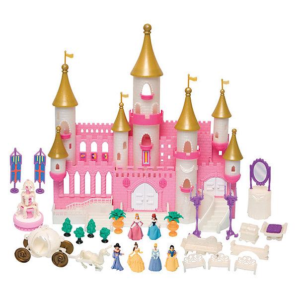 Волшебный замок с золотыми башнями, BoleyИгрушки<br>Яркий набор миниатюрных фигурок принцесс из самых популярных мультфильмов компании Дисней и сказочный замок - приведут в восторг всех поклонниц Disney princess. Набор позволит погрузиться в мир волшебства и фантастических приключений вместе с персонажами любимых сказок. Многоэтажный замок со множеством окон, башен, балконов, лестниц и дверей, которые, при желании, можно открыть или закрыть. Множество аксессуаров для интересной игры с набором: фонтан и деревья для сада, лавочки, софа, канделябры, зеркало, сундук, гербы на подставках, карета, запряженная белым конем. Несмотря на миниатюрность предметов, все детали хорошо прорисованы и выполнены из высококачественного гипоаллергенного пластика.<br><br>Дополнительная информация:<br><br>- Комплектация: фигурки принцесс; замок; аксессуары: фонтан и деревья для сада, лавочки, софа, канделябры, зеркало, сундук, гербы на подставках, карета, запряженная белым конем.<br>- В набор входят принцессы: Золушка, Спящая красавица, Белоснежка, Бэлла, Ариэль и Жасмин.<br>- Материал: пластик.<br>- Размер упаковки: 45х37х10,5 см.<br><br>Волшебный замок с золотыми башнями, Boley, можно купить в нашем магазине.<br><br>Ширина мм: 450<br>Глубина мм: 370<br>Высота мм: 105<br>Вес г: 1338<br>Возраст от месяцев: 36<br>Возраст до месяцев: 120<br>Пол: Женский<br>Возраст: Детский<br>SKU: 4251474