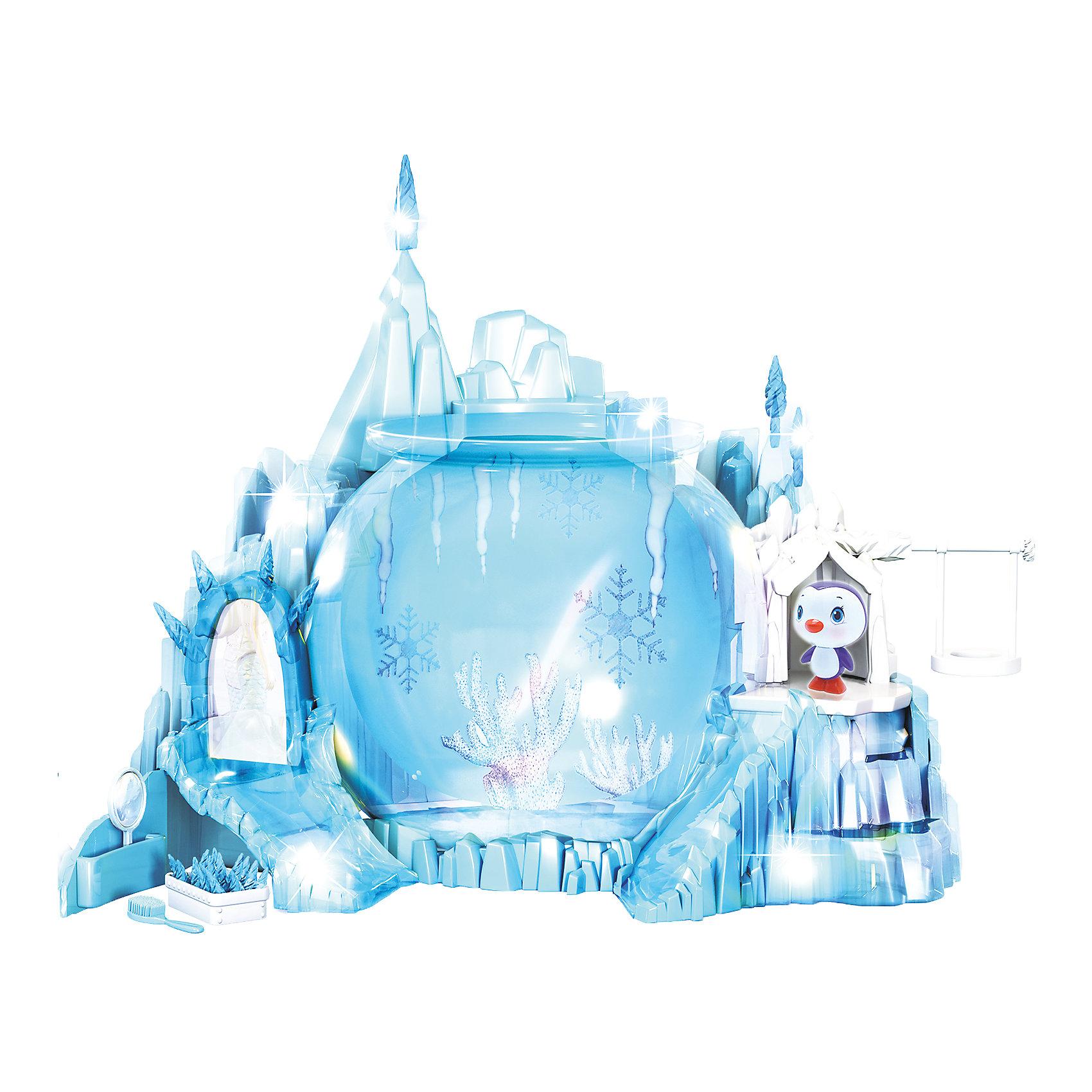 Набор Северное Сияние, Море чудесЛедяной замок морской принцессы светится и переливается разными цветами. <br>Замок в виде большого прозрачного айсберга, внутри него есть трон с  зеркалом и ступенями, качели,  ледяная  горка. Наполни аквариум водой и смотри как весело купается Русалочка, делая сальто, ныряя и кружась. Цвет хвоста морской принцессы меняется при погружении в холодную воду. Под троном, за дверцей есть тайник, о котором знаешь только ты и твоя морская подружка! <br><br>Дополнительная информация:<br><br>- Комплектация: ледяной замок с разноцветной светодиодной подсветкой,<br>Русалочка, аквариум, пингвин, качели, зеркало, расческа, ожерелье, игрушечные бриллианты, стикеры для аквариума.<br>- Размер упаковки: 40 х 30 х 24 см.<br>- Объем аквариума: 5 л.<br>- Материал: пластик.<br>- Хвост русалочки меняет цвет.<br>- Элемент питания: 1 батарейка ААА и 3 батарейки АА (в комплект не входят).<br><br>Набор Северное Сияние, Море чудес, можно купить в нашем магазине.<br><br>Ширина мм: 400<br>Глубина мм: 290<br>Высота мм: 230<br>Вес г: 1997<br>Возраст от месяцев: 36<br>Возраст до месяцев: 72<br>Пол: Женский<br>Возраст: Детский<br>SKU: 4252051