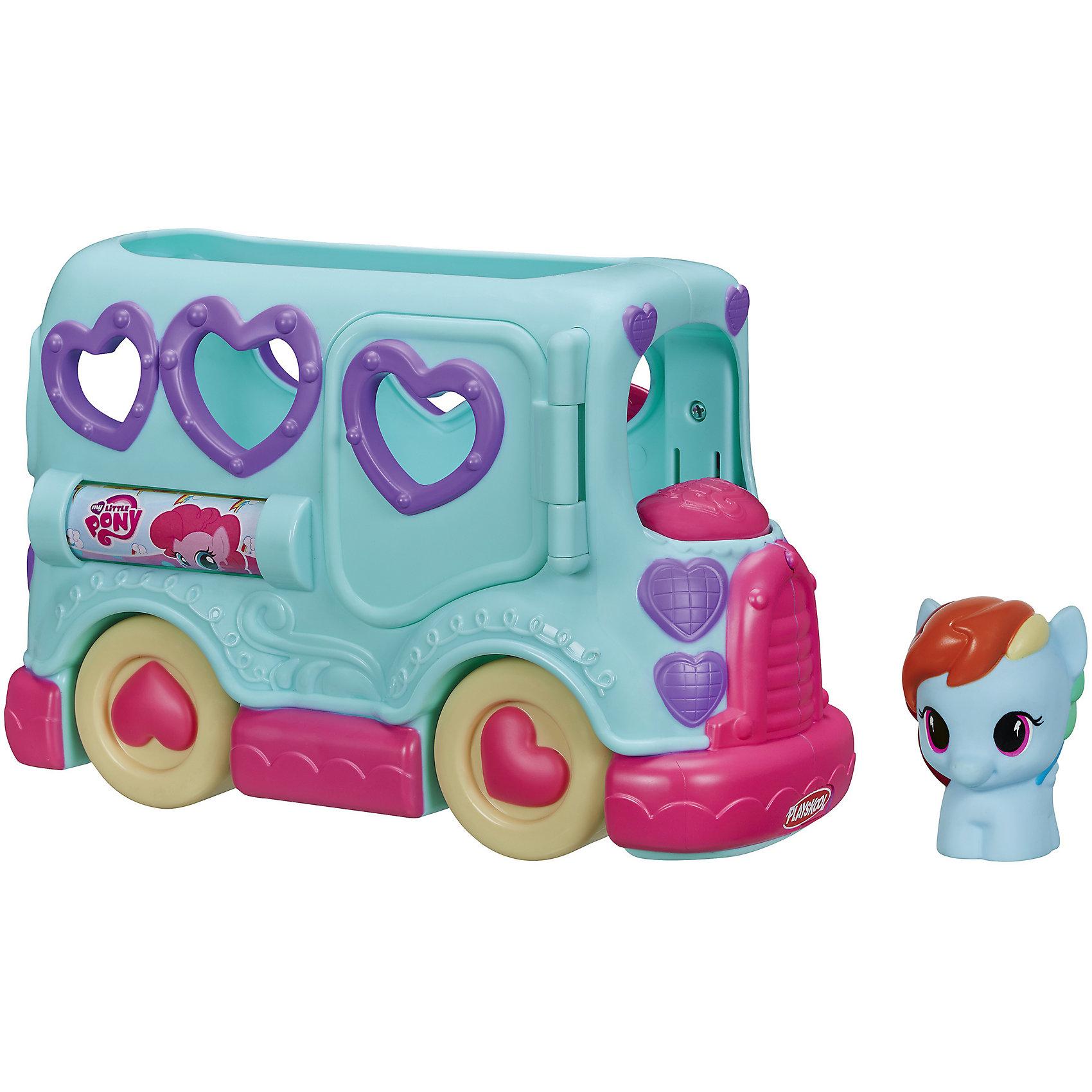 Автобус Пинки Пай, My little Pony, PLAYSKOOLАвтобус вмещает 3 фигурки пони (1 в комплекте).<br><br>Ширина мм: 98<br>Глубина мм: 279<br>Высота мм: 203<br>Вес г: 550<br>Возраст от месяцев: 18<br>Возраст до месяцев: 36<br>Пол: Женский<br>Возраст: Детский<br>SKU: 4252294