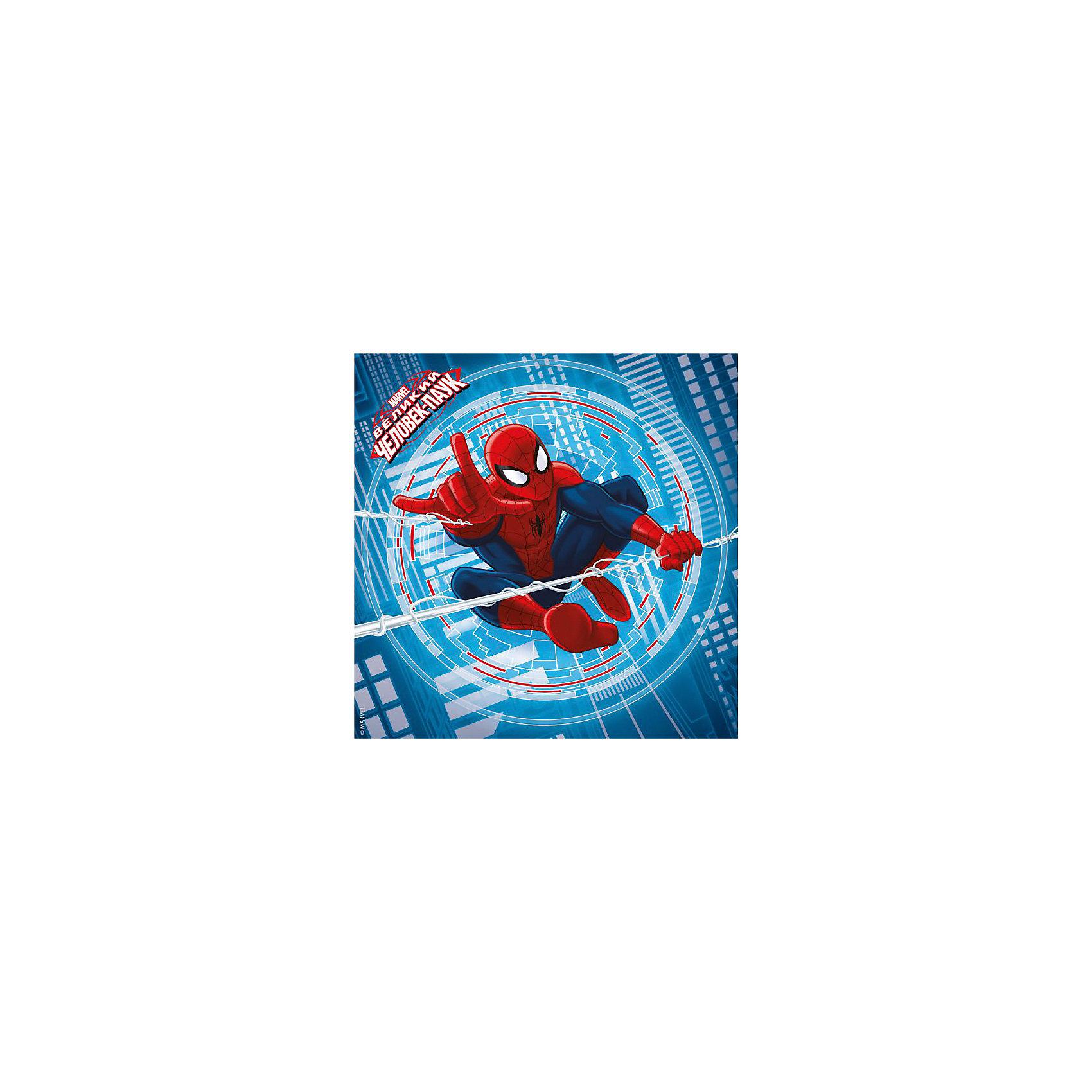 Салфетки Человек-паук, 12 штСалфетки  Человек-паук (Spider-man), 12 шт – это отличное дополнение на праздничном столе вашего мальчика!<br>Салфетки  Человек-паук (Spider-man) создадут праздничное настроение фанатам этого супергероя. Качественные и красочные, они станут хорошим украшением праздничного стола. Реалистичное изображение любимого мультяшного персонажа привлечет внимание маленьких членов семьи. В нашем магазине можно также дополнительно приобрести скатерть и бумажные стаканы из этой серии.<br><br>Дополнительная информация:<br><br>- В наборе: 12 шт.<br>- Материал: бумага<br>- Размер упаковки: 18 х 23 см.<br><br>Салфетки  Человек-паук (Spider-man), 12 шт можно купить в нашем интернет-магазине.<br><br>Ширина мм: 180<br>Глубина мм: 10<br>Высота мм: 230<br>Вес г: 60<br>Возраст от месяцев: 24<br>Возраст до месяцев: 144<br>Пол: Мужской<br>Возраст: Детский<br>SKU: 4254587