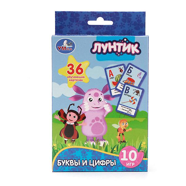 Карточки развивающие Учим алфавит и цифры, ЛунтикОбучающие карточки<br>Карточки развивающие Учим алфавит и цифры, Лунтик – эти карточки помогут вашему ребенку легко и быстро выучить буквы и цифры.<br>Карточки развивающие Учим алфавит и цифры, Лунтик - это комплект компактных наглядных пособий, красочно проиллюстрированных и напечатанных на плотном картоне. В наборе 36 карточек, на которых имеются изображения цифр, букв и математических знаков. Они помогут маленькому ученику, познакомится с алфавитом, научиться решать простенькие примеры. С помощью карточек также можно играть в десять обучающих игр, которые понравятся вашему ребенку. Картинки на карточках изображают героев мультсериала «Лунтик». Занимаясь с этим комплектом, ребенок подготовится к школе, а также разовьет внимательность и усидчивость.<br><br>Дополнительная информация:<br><br>- Издательство: Умка<br>- Количество карточек: 36<br>- Количество игр: 10<br>- Иллюстрации: цветные<br>- Материал: картон<br>- Размер упаковки: 16 х 2 х 10 см.<br>- Вес: 120 г.<br><br>Карточки развивающие Учим алфавит и цифры, Лунтик можно купить в нашем интернет-магазине.<br>Ширина мм: 100; Глубина мм: 25; Высота мм: 160; Вес г: 120; Возраст от месяцев: 36; Возраст до месяцев: 72; Пол: Унисекс; Возраст: Детский; SKU: 4254595;