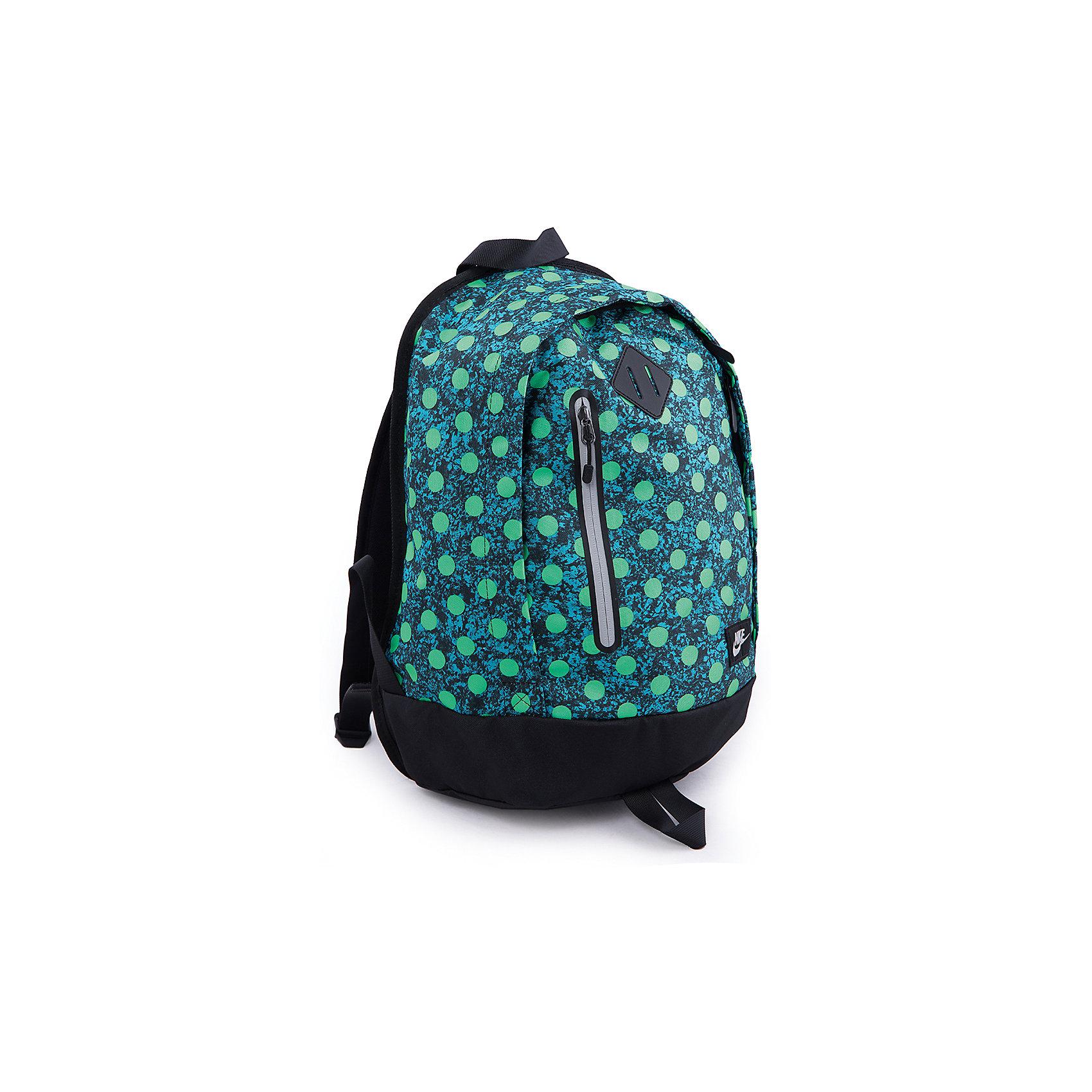 Рюкзак NIKE YA CHEYENNE BACKPACK NIKEВместительный рюкзак от Nike (Найк) имеет регулируемые мягкие и удобные лямки. Вместительное основное отделение с двойной молнией для надежного хранения вещей. Имеется внутренний  карман из сетчатой ткани для удобного хранения вещей. Низ из непромокаемой ткани для защиты вещей от промокания.<br><br>Дополнительная информация:<br><br>Размеры: 40 х 28 см<br>Ширина дна: 19 см<br>Два отделения на молнии, куда помещается документы формата А4<br>Внутри один карман на молнии, один накладной карман и несколько кармашков для ручек, снаружи один карман на молнии.<br>Материал: полиэстер<br><br>Рюкзак для девочки NIKE YA CHEYENNE BACKPACK NIKE можно купить в нашем магазине.<br><br>Ширина мм: 227<br>Глубина мм: 11<br>Высота мм: 226<br>Вес г: 350<br>Цвет: черный<br>Возраст от месяцев: 84<br>Возраст до месяцев: 192<br>Пол: Унисекс<br>Возраст: Детский<br>Размер: one size<br>SKU: 4257557