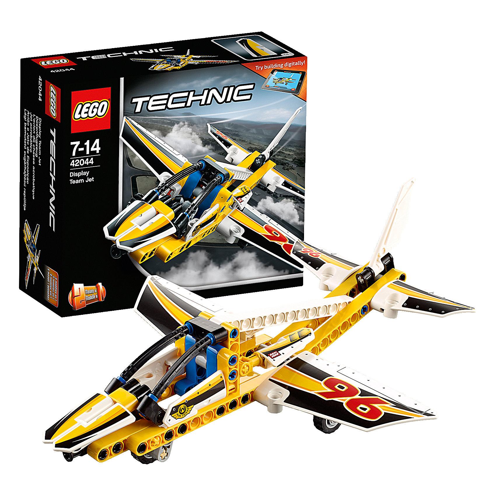 LEGO Technic 42044: Самолёт пилотажной группыПластмассовые конструкторы<br>Наслаждайся приключениями в воздухе с этим высокотехнологичным, аэродинамичным самолётом. Удивительная модель 2-в-1 имеет большую кабину, убирающиеся шасси, раскрашена в яркие цвета со спортивными черно-белыми гоночными наклейками-шашечками. Когда будешь готов к новой задаче, собери спортивный самолёт для высшего пилотажа. Доступно интерактивное интернет-приложение с цифровыми 3D-инструкциями по сборке LEGO для обеих моделей!<br><br>LEGO Technic  (Лего Техник) - серия конструкторов, позволяющая собрать функциональные, подробные, прекрасно детализированные, имеющие множество подвижных узлов, транспортные средства. В этой серии найдется техника на любой вкус: тракторы и экскаваторы, внедорожники и квадроциклы, самосвалы и гоночные автомобили. Даже самые простые из конструкторов lego technic дают вашему ребенку представление о том, как устроены машины, помогают развить моторику, мышление и умение работать по инструкции. <br><br>Дополнительная информация:<br><br>- Конструкторы ЛЕГО развивают усидчивость, внимание, фантазию и мелкую моторику. <br>- Комплектация: самолет.<br>- Количество деталей: 113.<br>- Серия LEGO Technic  (Лего Техник).<br>- Материал: пластик.<br>- Размер упаковки: 16х6х14 см.<br>- Вес: 0.195 кг.<br><br>LEGO Technic 42044: Самолёт пилотажной группы можно купить в нашем магазине.<br><br>Ширина мм: 159<br>Глубина мм: 141<br>Высота мм: 64<br>Вес г: 188<br>Возраст от месяцев: 84<br>Возраст до месяцев: 168<br>Пол: Мужской<br>Возраст: Детский<br>SKU: 4259017