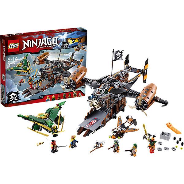 LEGO NINJAGO 70605: Цитадель несчастийКонструкторы Лего<br>Злой джинн Надахан и экипаж Цитадели несчастий грозят уничтожить Ниндзяго. Взмывай в небо на реактивном самолёте Ллойда и используй лебедку, чтобы спустить Джея прямо в гущу боя. Остерегайся скрытых пушек, дисковых шутеров и пиратского реактивного самолёта, который вот-вот взлетит из Цитадели несчастий. Сможешь ли ты помочь ниндзя победить Надахана и освободить Ву, заточённого в золотом Джинн-клинке?<br><br>LEGO Ninjago (ЛЕГО Ниндзяго) - серия детских конструкторов ЛЕГО, рассказывающая о приключениях четырех отважных ниндзя и их сенсея, о противостоянии злу и победе добра. Наборы серии можно комбинировать между собой, давая безграничные просторы для фантазии и придумывая свои новые истории.  <br><br>Дополнительная информация:<br><br>- Конструкторы ЛЕГО развивают усидчивость, внимание, фантазию и мелкую моторику. <br>- Комплектация: 3 минифигурок, аксессуары, реактивный самолет Ллойда, пиратский самолет, корабль Цитадель несчастий. <br>- В комплекте 6 минифигурок.<br>- Количество деталей: 754.<br>- Серия ЛЕГО Ниндзяго (LEGO Ninjago)<br>- Материал: пластик.<br>- Размер упаковки: 48х7х38 см.<br>- Вес: 1.38 кг.<br><br>Конструктор LEGO Ninjago 70605: Цитадель несчастий можно купить в нашем магазине.<br>Ширина мм: 481; Глубина мм: 375; Высота мм: 76; Вес г: 1442; Возраст от месяцев: 108; Возраст до месяцев: 168; Пол: Мужской; Возраст: Детский; SKU: 4259043;