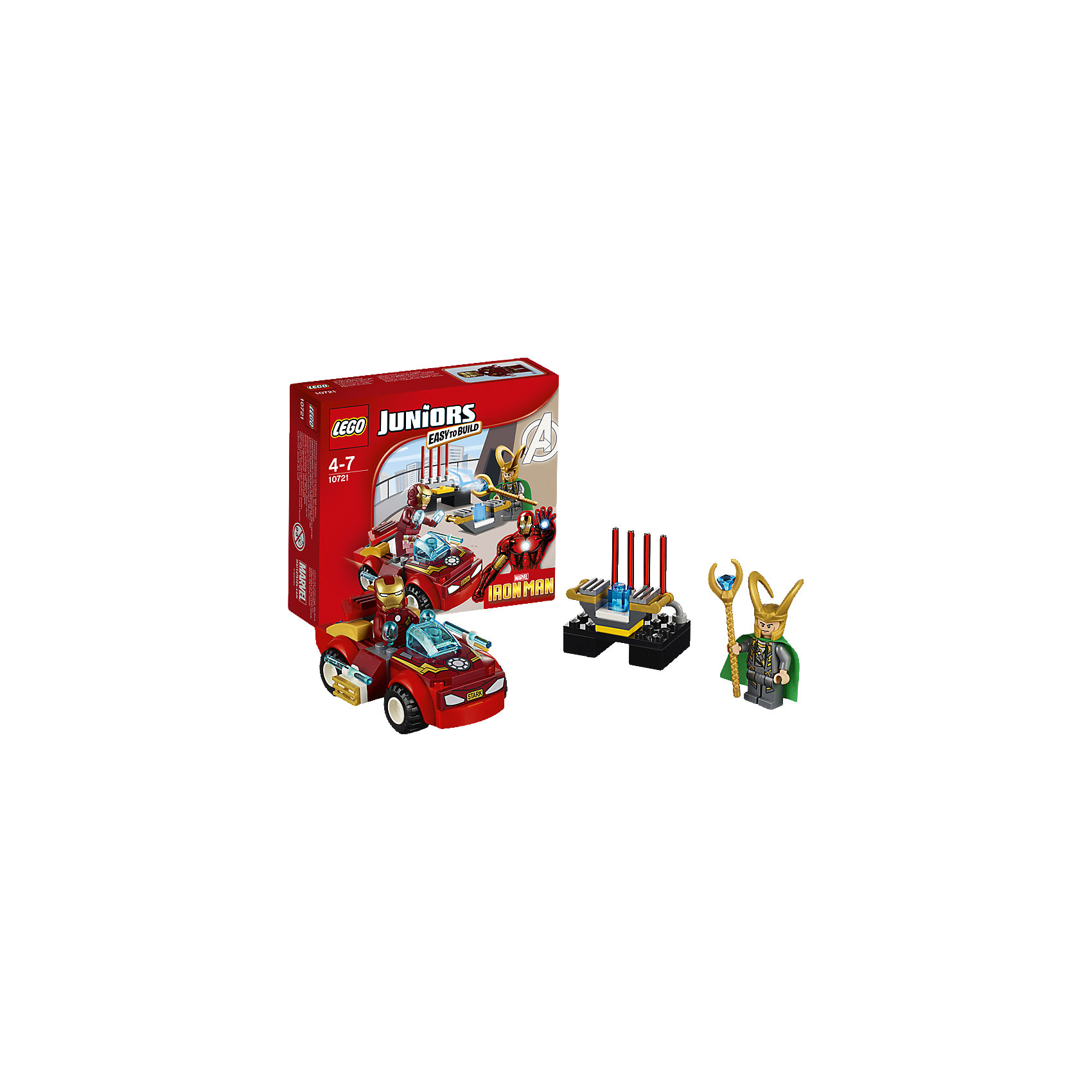 LEGO LEGO Juniors 10721: Железный человек против Локи lego lego juniors бэтмен против мистера фриза