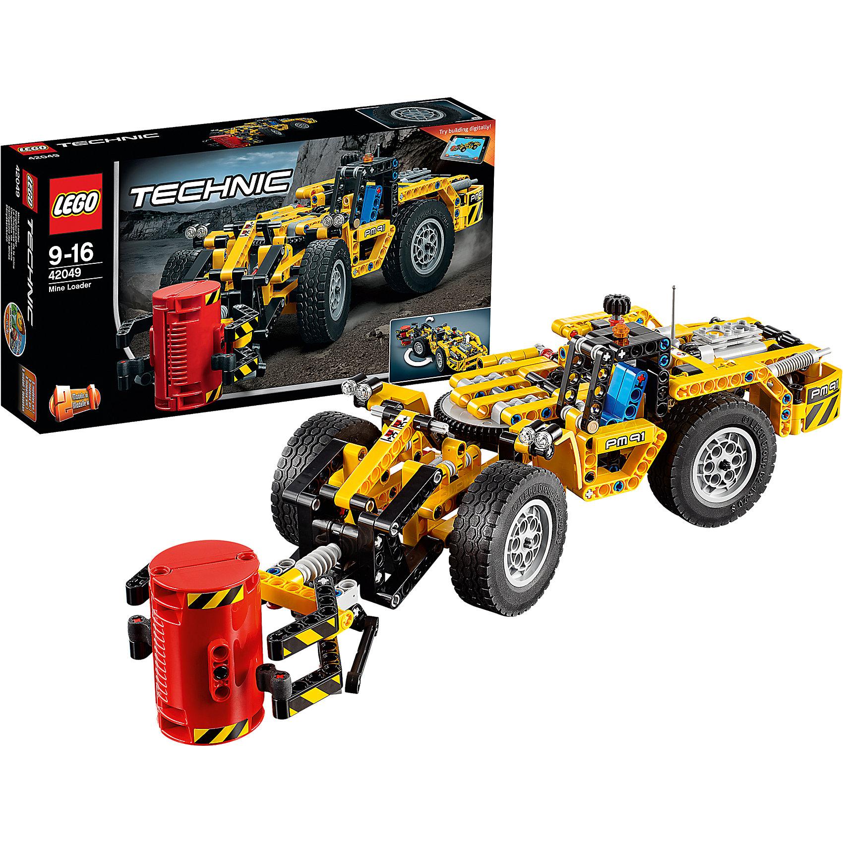 LEGO Technic 42049: Карьерный погрузчикПластмассовые конструкторы<br>Отправляйся под землю на этом прочном автомобиле, имеющем классическую желто-черную цветовую схему, детализированный двигатель с движущимися поршнями и вращающимся вентилятором и массивные колеса с огромными шинами. Управляй погрузчиком, чтобы переместить машину в нужное место, а затем активируй универсальное захватное устройство, чтобы поднять и загрузить тяжелый груз. Когда все тяжелые грузы будут перемещены, переделай модель в удивительную карьерную машину! Доступно интерактивное интернет-приложение с цифровыми 3D-инструкциями по сборке LEGO для обеих моделей.<br><br>LEGO Technic  (Лего Техник) - серия конструкторов, позволяющая собрать функциональные, подробные, прекрасно детализированные, имеющие множество подвижных узлов, транспортные средства. В этой серии найдется техника на любой вкус: тракторы и экскаваторы, внедорожники и квадроциклы, самосвалы и гоночные автомобили. Даже самые простые из конструкторов lego technic дают вашему ребенку представление о том, как устроены машины, помогают развить моторику, мышление и умение работать по инструкции. <br><br>Дополнительная информация:<br><br>- Конструкторы ЛЕГО развивают усидчивость, внимание, фантазию и мелкую моторику. <br>- Комплектация: погрузчик.<br>- Количество деталей: 476.<br>- Серия LEGO Technic  (Лего Техник).<br>- Материал: пластик.<br>- Размер упаковки: 35х7х19 см.<br>- Вес: 0.76 кг.<br><br>LEGO Technic 42049: Карьерный погрузчик можно купить в нашем магазине.<br><br>Ширина мм: 356<br>Глубина мм: 189<br>Высота мм: 74<br>Вес г: 782<br>Возраст от месяцев: 108<br>Возраст до месяцев: 192<br>Пол: Мужской<br>Возраст: Детский<br>SKU: 4259077