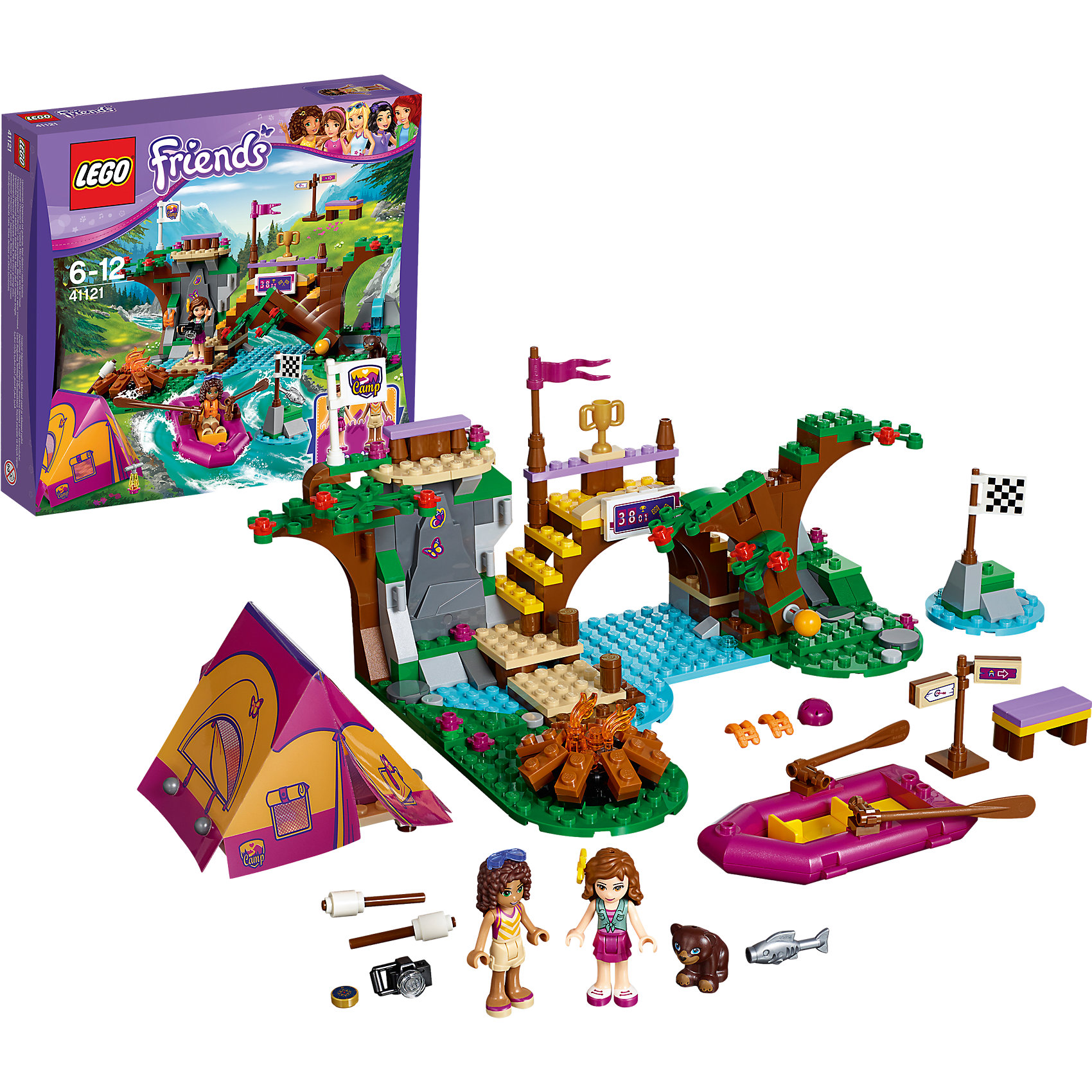 LEGO LEGO Friends 41121: Спортивный лагерь: сплав по реке
