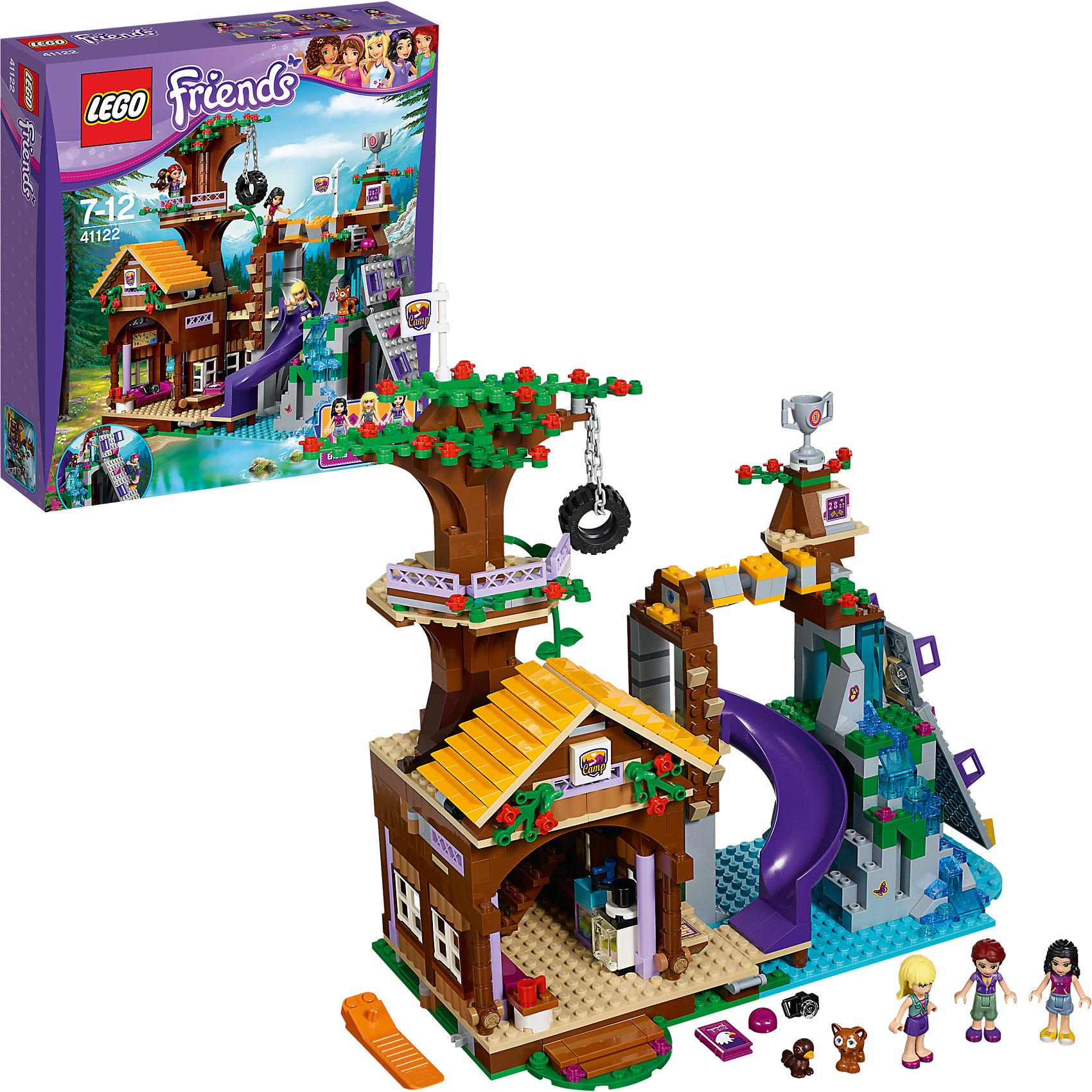 LEGO LEGO Friends 41122: Дом на дереве bela 10497 building bricks friends series adventure camp tree house 41122 emma mia figure educational toys for children gifts