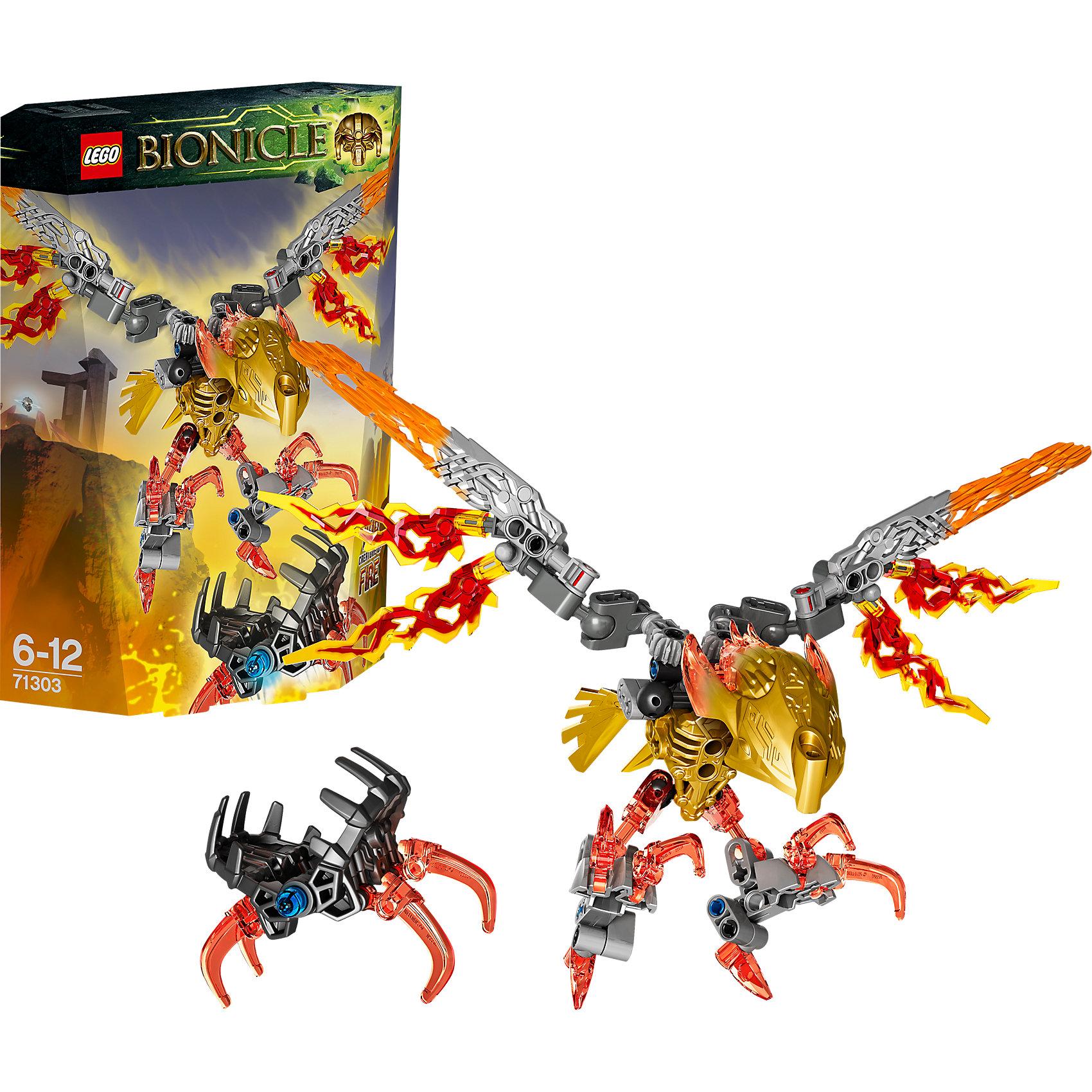 LEGO BIONICLE 71303: Икир, Тотемное животное ОгняНа острове Окото обстановка накаляется. Пикируй на мощных огненных кристальных крыльях, чтобы увернуться от капкана, выпущенного Умараком, охотником тьмы. Отрази своими смертоносными когтями яростную атаку. Сможет ли Тотемное животное спастись и приручат ли его героические Тоа, чтобы объединившись, стать непобедимыми?<br><br>LEGO Bionicle (Лего Биониклы) - это нереальный фантастический мир, со своими правилами, приключениями и традициями! Герои сражаются с мутантами Барраками, с многотысячной армией механических созданий Бороков, и самыми опасными и беспощадными убийцами Пираками. Отправляйся на встречу с приключениями и подвигами вместе с легендарными LEGO Bionicle!<br><br>Дополнительная информация:<br><br>- Конструкторы ЛЕГО развивают усидчивость, внимание, фантазию и мелкую моторику. <br>- Комплектация: Икир, Тотемное животное Огня. <br>- Количество деталей: 77.<br>- Серия LEGO Bionicle (Лего Биониклы).<br>- Материал: пластик.<br>- Размер упаковки: 19х5,2х14 см.<br>- Вес: 0.15 кг.<br><br>LEGO Bionicle 71303: Икир, Тотемное животное Огня можно купить в нашем магазине.<br><br>Ширина мм: 195<br>Глубина мм: 142<br>Высота мм: 55<br>Вес г: 145<br>Возраст от месяцев: 72<br>Возраст до месяцев: 144<br>Пол: Мужской<br>Возраст: Детский<br>SKU: 4259120