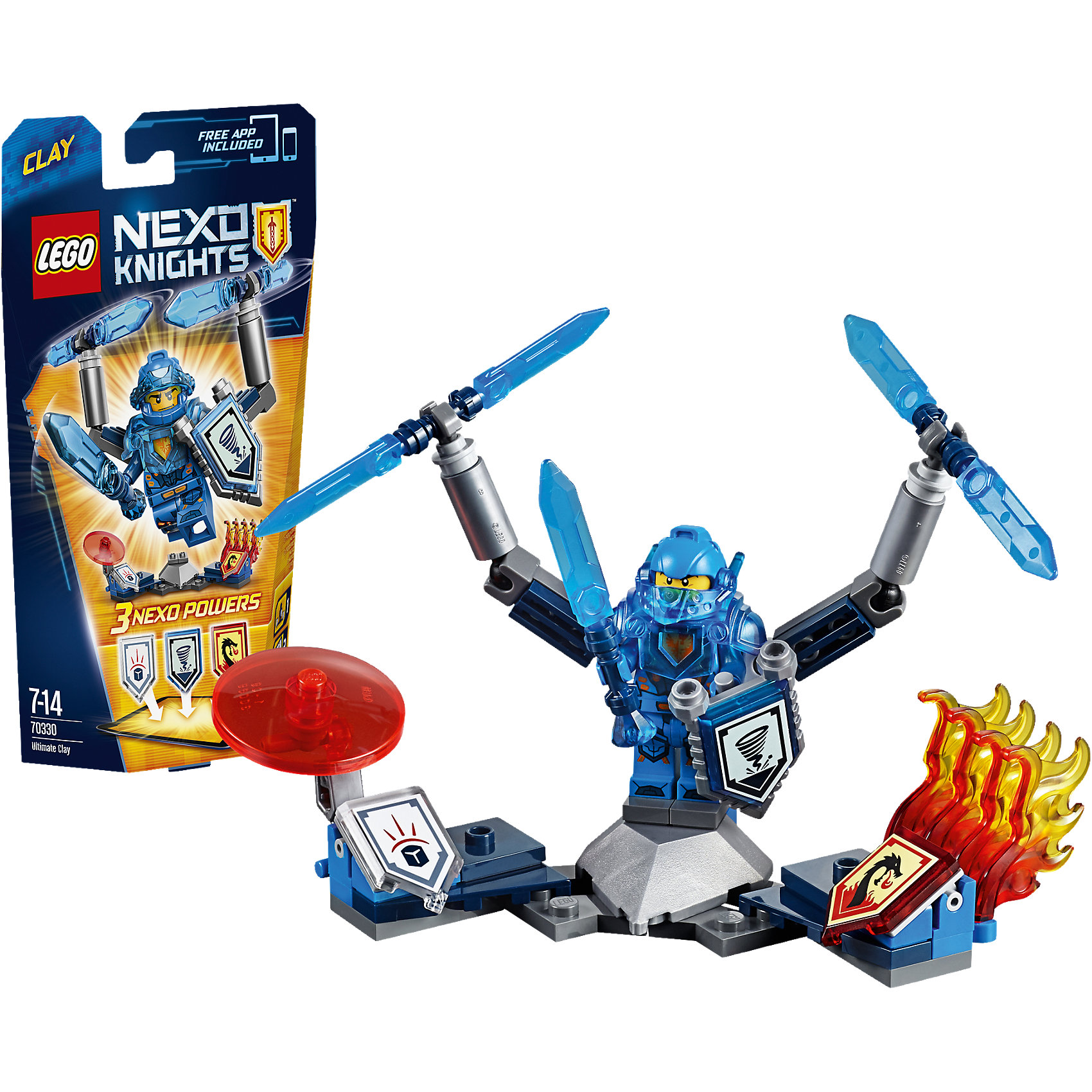 LEGO LEGO NEXO KNIGHTS 70330: Клэй – Абсолютная сила transctego led stage lamp laser light dmx 24w 14 modes 8 colors disco lights dj bar lamp sound control music stage lamps