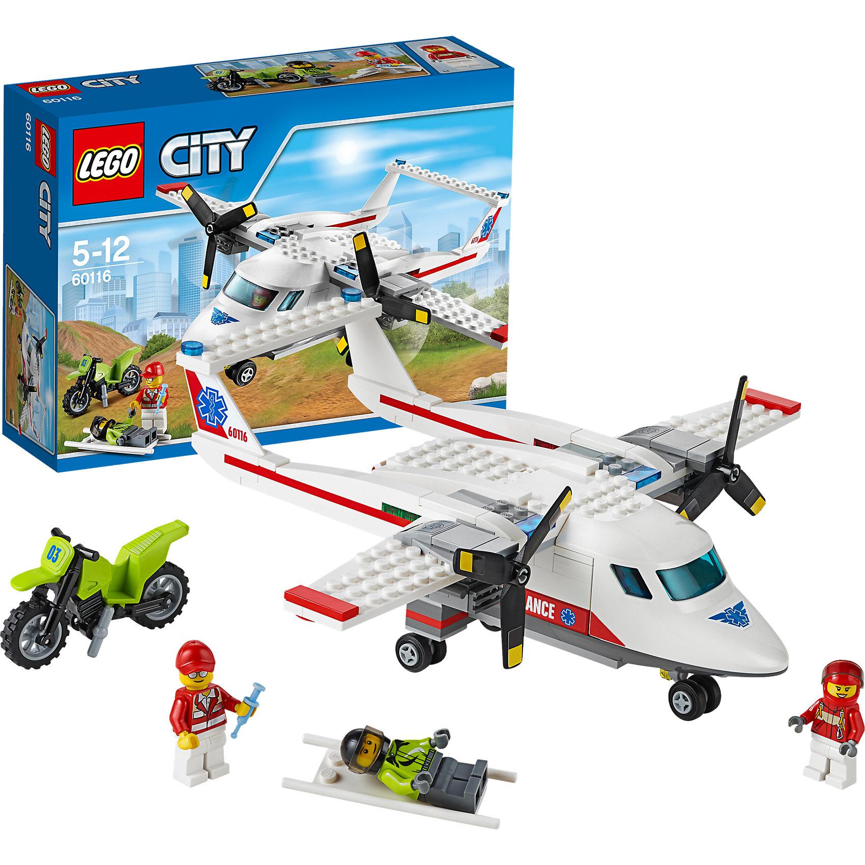 LEGO LEGO City 60116: Самолет скорой помощи lego city 60110 лего город пожарная часть