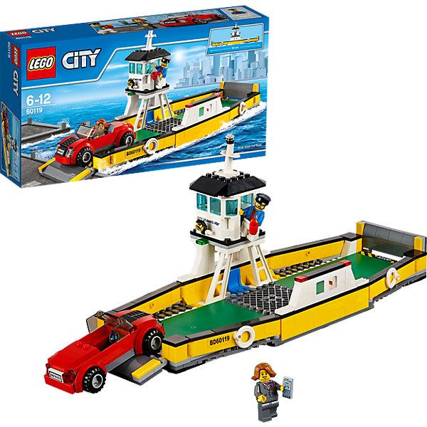 LEGO City 60119: ПаромПластмассовые конструкторы<br>LEGO City (ЛЕГО Сити) 60119: Паром станет прекрасным подарком для юных любителей конструирования. Чего только нет в Лего-Сити для удобства его жителей. Например, если Вам надо переправиться через широкую реку, пересекающую город, к Вашим услугам большой удобный паром, который быстро доставит пассажиров и их автомобили до места назначения. Корпус судна выполнен из желтых и черных деталей. Передний и задний борта трансформируются в удобные пандусы для въезда и выезда автомобилей. Два длинных симметричных борта оснащены спасательными кругами. Просторная палуба вмещает сразу несколько транспортных средств и пассажиров. В центре парома располагается смотровая вышка паромщика, который следит за ходом погрузочных работ. Здесь находятся удобное кресло, рычаги управления, прожектор и навигационные огни. В комплект также входят различные игровые аксессуары и две минифигурки - паромщик и хозяйка легкового автомобиля.  <br><br>Серия конструкторов LEGO City позволяет почувствовать себя инженером и архитектором, строителем или мэром города. Вы можете создавать свой город мечты, развивать городскую инфраструктуру, строить дороги и здания, управлять городским хозяйством и следить за порядком.<br>В игровых наборах с разнообразными сюжетами много интересных персонажей, оригинальных объектов и городской техники. Это уникальная возможность для ребенка развивать фантазию и логическое мышление, узнавать и осваивать разные профессии.<br><br>Дополнительная информация:<br><br>- Игра с конструктором LEGO (ЛЕГО) развивает мелкую моторику ребенка, фантазию и воображение, учит его усидчивости и внимательности.<br>- Количество деталей: 301.<br>- Количество минифигур: 2.<br>- Серия: LEGO City (ЛЕГО Сити).<br>- Материал: пластик.<br>- Размер собранного парома: 16 х 34 х 13 см.<br>- Размер упаковки: 35 х 7 х 19 см.<br>- Вес: 0,66 кг.<br><br>LEGO City (ЛЕГО Сити) 60119: Паром можно купить в нашем интернет-магазине.<br><br>Ширина мм: 356<br>Глубина 