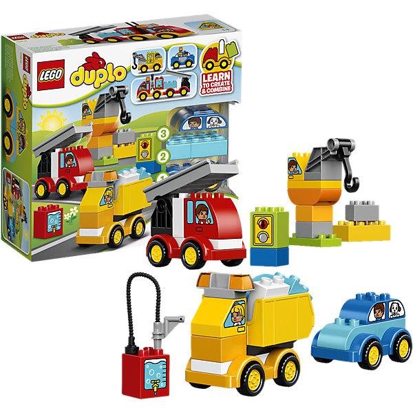 LEGO DUPLO 10816: Мои первые машинкиКонструкторы для малышей<br>LEGO DUPLO (ЛЕГО Дупло) 10816: Мои первые машинки идеально подойдет для самых маленьких автолюбителей. С помощью красочных блоков, разнообразных деталей и колесной базы можно создавать машинки всех форм и размеров, какие только подскажет фантазия. Постройте яркую пожарную машину или мощный подъемный кран, полицейский автомобиль или грузовик - набор предлагает бесконечные варианты для творчества и создания историй. Декорированные кубики помогут придумывать новые идеи. Все детали разработаны специально для маленьких детских ручек. Набор предоставляет большие возможности для веселых ролевых игр и развития фантазии.<br><br>ЛЕГО Дупло - серия конструкторов для малышей, которую отличают крупные яркие детали со скругленными углами и многообразие игровых сюжетов, это и животные, и растения, и машинки, и сказочные персонажи. <br><br>Дополнительная информация:<br><br>- Игра с конструктором LEGO (ЛЕГО) развивает мелкую моторику ребенка, фантазию и воображение, учит его усидчивости и внимательности.<br>- Количество деталей: 36.<br>- Количество минифигур: 0.<br>- Серия: LEGO DUPLO (ЛЕГО Дупло). <br>- Материал: пластик.<br>- Размер упаковки: 28 х 9,5 х 26 см.<br>- Вес: 0,644 кг.<br><br>Конструктор LEGO DUPLO (ЛЕГО Дупло) 10816: Мои первые машинки можно купить в нашем интернет-магазине.<br>Ширина мм: 286; Глубина мм: 261; Высота мм: 99; Вес г: 660; Возраст от месяцев: 18; Возраст до месяцев: 60; Пол: Мужской; Возраст: Детский; SKU: 4259149;