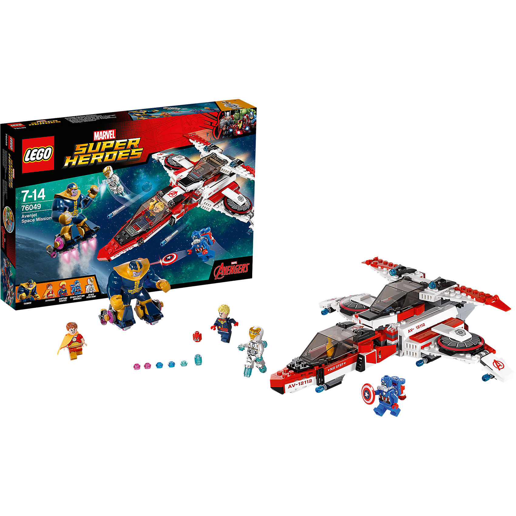 LEGO LEGO Super Heroes 76049: Реактивный самолёт Мстителей: космическая миссия lego lego super heroes 76049 реактивный самолёт мстителей космическая миссия