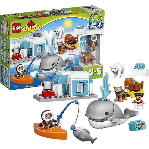 LEGO DUPLO 10803: Вокруг света: АрктикаПластмассовые конструкторы<br>LEGO DUPLO (ЛЕГО Дупло) 10803: Вокруг света: Арктика непременно заинтересует любознательных малышей. Вашему ребенку предстоит отправиться в увлекательное путешествие в холодную Арктику и познакомиться с местными обитателями - симпатичным китом, полярным медведем и милой собачкой хаски. Собачья упряжка, байдарка и иглу обеспечат дух настоящего приключения в различных ролевых играх о жизни за Полярным кругом.<br><br>ЛЕГО Дупло - серия конструкторов для малышей, которую отличают крупные яркие детали со скругленными безопасными углами и многообразие игровых сюжетов, это и животные, и растения, и машинки, и сказочные персонажи. <br><br>Дополнительная информация:<br><br>- Игра с конструктором LEGO (ЛЕГО) развивает мелкую моторику ребенка, фантазию и воображение, учит его усидчивости и внимательности.<br>- Количество деталей: 40.<br>- Количество минифигур: 6 (эскимос, ребенок, собачка, кит, полярный медведь, рыбка).<br>- Серия: LEGO DUPLO (ЛЕГО Дупло). <br>- Материал: пластик.<br>- Размер упаковки: 26 х 9 х 19 см.<br>- Вес: 0,48 кг.<br><br>Конструктор LEGO DUPLO (ЛЕГО Дупло) 10803: Вокруг света: Арктика можно купить в нашем интернет-магазине.<br><br>Ширина мм: 384<br>Глубина мм: 259<br>Высота мм: 93<br>Вес г: 766<br>Возраст от месяцев: 24<br>Возраст до месяцев: 60<br>Пол: Унисекс<br>Возраст: Детский<br>SKU: 4259171