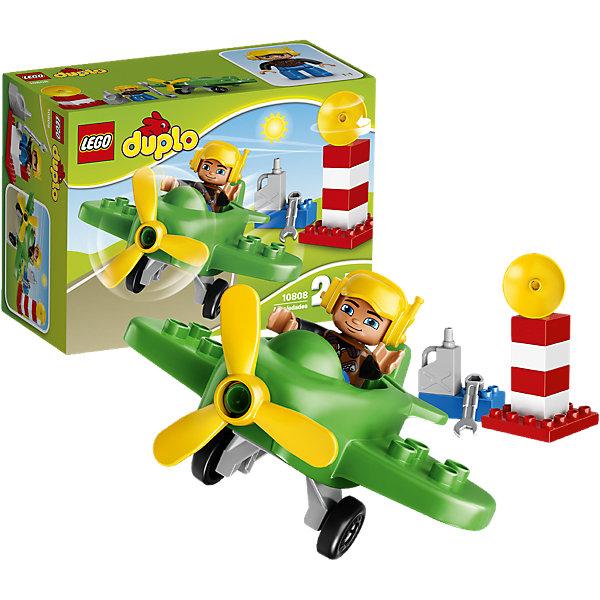 LEGO DUPLO 10808: Маленький самолётПластмассовые конструкторы<br>LEGO DUPLO (ЛЕГО Дупло) 10808: Маленький самолёт - увлекательный игровой набор, который станет замечательным подарком для Вашего малыша. Из ярких деталей он сможет самостоятельно собрать красочный самолет с пропеллером и отправиться на нем в увлекательное путешествие! Помогите пилоту проверить работу пропеллера и заправить самолет топливом. Получите разрешение на взлет с радарной вышки и выруливайте на взлётную полосу. В салон самолета можно посадить фигурку пилота с подвижными частями тела.<br><br>ЛЕГО Дупло - серия конструкторов для малышей, которую отличает крупные яркие детали со скругленными углами и многообразие игровых сюжетов, это и животные, и растения, и машинки, и сказочные персонажи. <br><br>Дополнительная информация:<br><br>- Игра с конструктором LEGO (ЛЕГО) развивает мелкую моторику ребенка, фантазию и воображение, учит его усидчивости и внимательности.<br>- Количество деталей: 13.<br>- Количество минифигур: 1 (пилот самолета).<br>- Серия: LEGO DUPLO (ЛЕГО Дупло). <br>- Материал: пластик.<br>- Размер упаковки: 19 х 9 х 14 см.<br>- Вес: 0,215 кг.<br><br>Конструктор LEGO DUPLO (ЛЕГО Дупло) 10808: Маленький самолёт можно купить в нашем интернет-магазине.<br><br>Ширина мм: 196<br>Глубина мм: 142<br>Высота мм: 93<br>Вес г: 231<br>Возраст от месяцев: 24<br>Возраст до месяцев: 60<br>Пол: Мужской<br>Возраст: Детский<br>SKU: 4259176