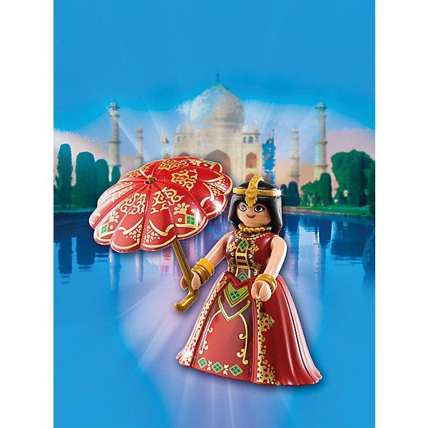 Друзья: Индийская принцесса, PLAYMOBILПластмассовые конструкторы<br>В  этом наборе представлена фигурка утонченной индийской принцессы. Все детали набора прекрасно проработаны, выполнены из высококачественного пластика безопасного для детей. <br><br>Дополнительная информация:<br><br>- Комплектация: фигурка, зонтик.<br>- Материал: пластик.<br>- Размер упаковки: 16х12х3 см.<br>- Высота фигурки: 7,5 см. <br>- Голова, руки, ноги у фигурки подвижные.<br><br>Набор Друзья: Индийская принцесса, PLAYMOBIL (Плеймобил),  можно купить в нашем магазине.<br>Ширина мм: 157; Глубина мм: 121; Высота мм: 55; Вес г: 46; Возраст от месяцев: 48; Возраст до месяцев: 120; Пол: Женский; Возраст: Детский; SKU: 4260577;