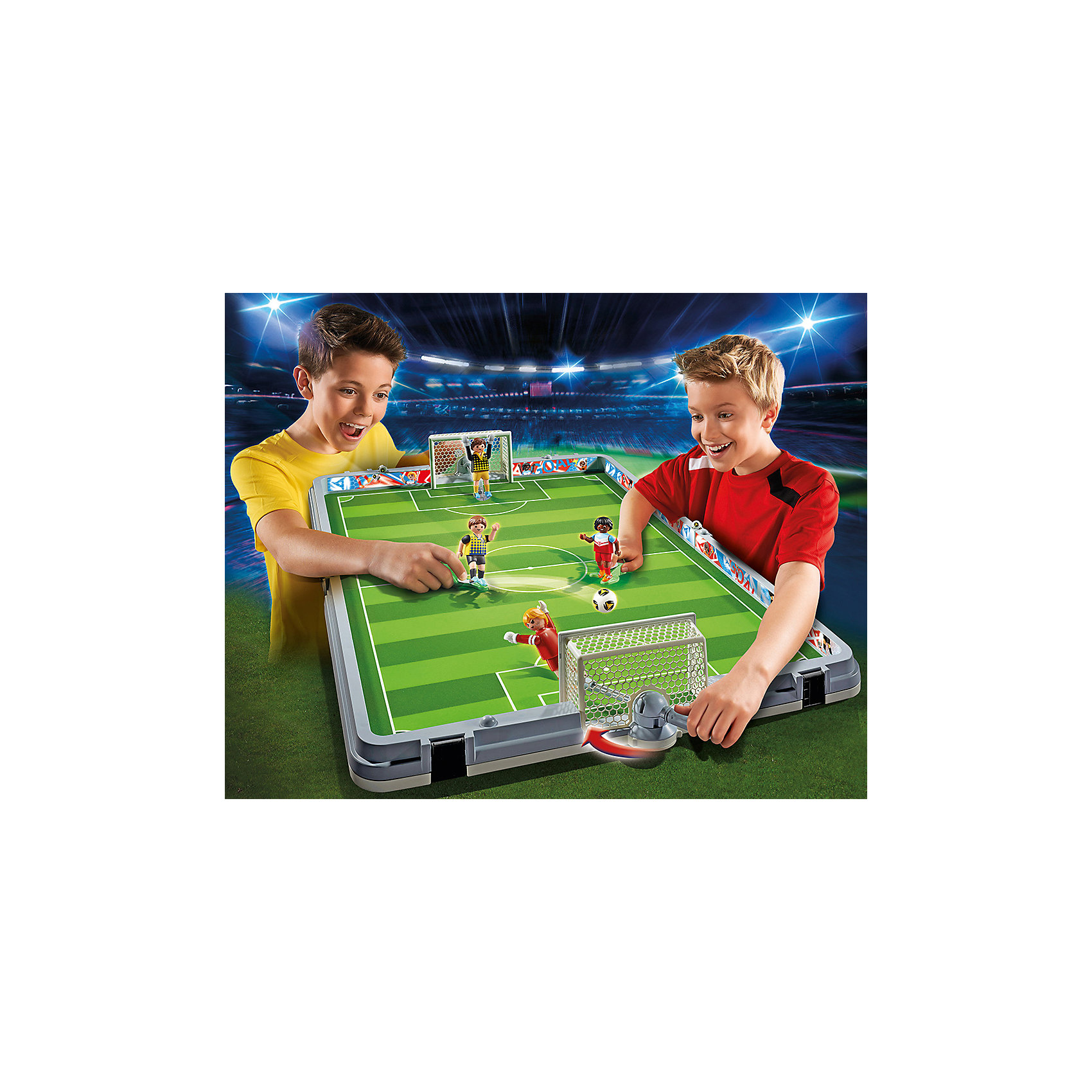 Футбол: Большая футбольная арена, возьми с собой, PLAYMOBIL<br><br>Ширина мм: 554<br>Глубина мм: 452<br>Высота мм: 88<br>Вес г: 2695<br>Возраст от месяцев: 60<br>Возраст до месяцев: 144<br>Пол: Мужской<br>Возраст: Детский<br>SKU: 4260641