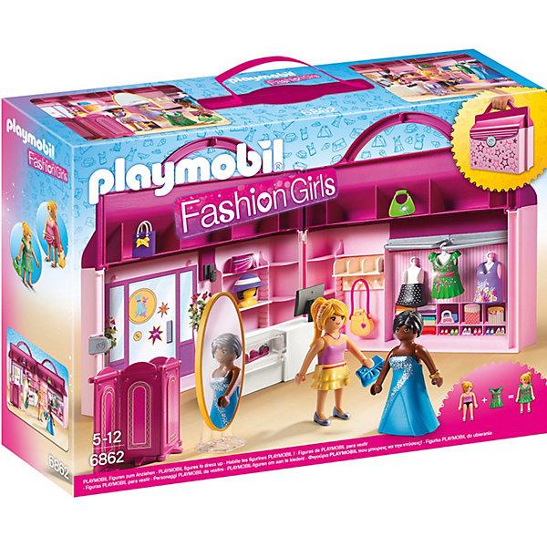 Конструктор Playmobil Модный Бутик Возьми с собойПластмассовые конструкторы<br>Характеристики товара:<br><br>• возраст: от 4 лет;<br>• материал: пластик;<br>• в комплекте: 2 фигурки, чемодан, аксессуары;<br>• высота фигурки: 7,5 см;<br>• размер упаковки: 34,8х24,8х9,5 см;<br>• вес упаковки: 713 гр.;<br>• страна бренда: Германия.<br><br>Игровой набор «Модный Бутик: Возьми с собой» Playmobil включает в себя фигурки и настоящий магазинчик для шоппинга с разными нарядами, которые помогут создавать для фигурок невероятные образы. Все аксессуары упакованы в удобный чемоданчик с ручкой, который можно брать с собой на прогулку или в гости.<br><br>Игровой набор «Модный Бутик: Возьми с собой» Playmobil можно приобрести в нашем интернет-магазине.<br>Ширина мм: 347; Глубина мм: 251; Высота мм: 99; Вес г: 640; Возраст от месяцев: 60; Возраст до месяцев: 144; Пол: Женский; Возраст: Детский; SKU: 4260657;
