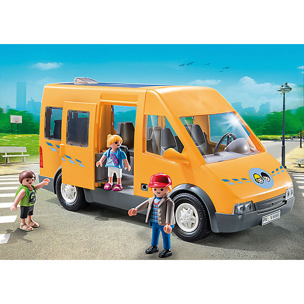 Конструктор Playmobil Школа АвтобусПластмассовые конструкторы<br>Характеристики товара:<br><br>• возраст: от 4 лет;<br>• материал: пластик;<br>• в комплекте: 3 фигурки, автобус, аксессуары;<br>• высота фигурки: 7,5 и 5,25 см;<br>• размер упаковки: 34,8х24,8х12,5 см;<br>• вес упаковки: 870 гр.;<br>• страна бренда: Германия.<br><br>Игровой набор «Школа: Автобус» Playmobil включает в себя фигурки водителя, учеников и школьного автобуса. У автобуса вращаются колеса и открываются двери. Внутри есть сидения, на которые можно посадить фигурки. Наборы данной серии сочетаются между собой.<br><br>Игровой набор «Школа: Автобус» Playmobil можно приобрести в нашем интернет-магазине.<br>Ширина мм: 349; Глубина мм: 248; Высота мм: 126; Вес г: 730; Возраст от месяцев: 48; Возраст до месяцев: 120; Пол: Унисекс; Возраст: Детский; SKU: 4260666;