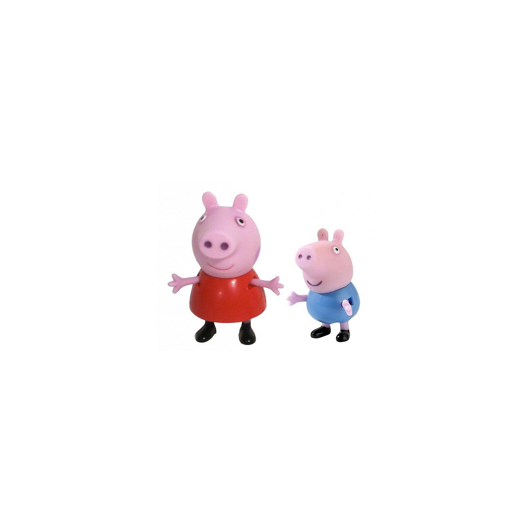 Росмэн Игровой набор Пеппа и Джордж, Свинка Пеппа росмэн игровой набор поезд пеппы неваляшки свинка пеппа