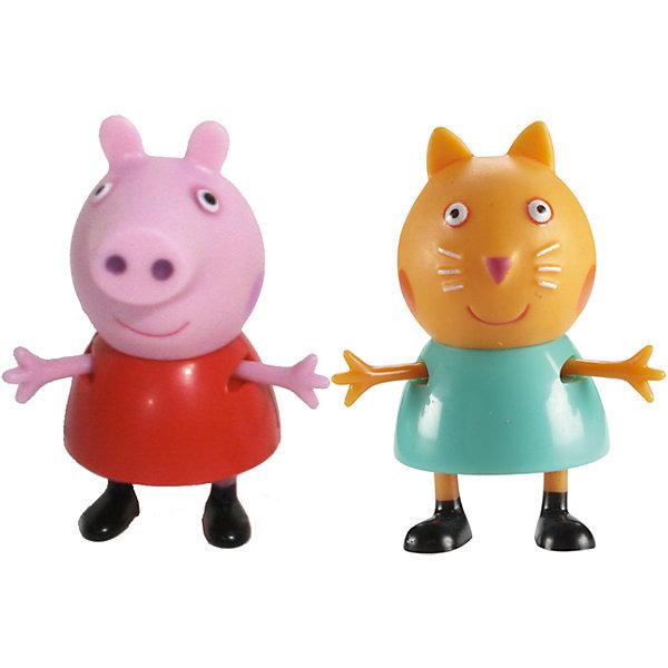 Игровой набор Пеппа и Кенди, Свинка ПеппаИгровые наборы с фигурками<br>Добро пожаловать в мир Свинки Пеппы! С забавными игрушками из серии «Peppa Pig» веселые мультфильмы оживут прямо у вас дома, а малыши станут участниками увлекательных приключений Пеппы и ее друзей. В наборе Пеппа и Кенди 2 фигурки, которые могут сидеть, стоять, двигать ручками и ножками. Игрушки выполнены из высококачественных экологичных материалов безопасных для детей. Собери всех героев известного мультсериала, проигрывай любимые сцены или придумывай свои новые истории! <br><br>Дополнительная информация:<br><br>- Материал: пластик.<br>- Руки, ноги фигурок подвижные. <br>- Размер фигурок: 5 см.<br><br>Игровой набор Пеппа и Кенди Свинка Пеппа, можно купить в нашем магазине.<br><br>Ширина мм: 140<br>Глубина мм: 50<br>Высота мм: 155<br>Вес г: 85<br>Возраст от месяцев: 36<br>Возраст до месяцев: 72<br>Пол: Унисекс<br>Возраст: Детский<br>SKU: 4261814