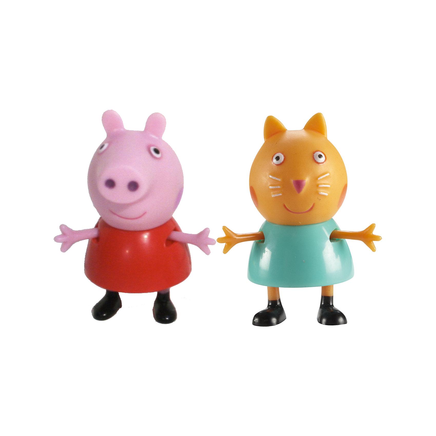 Игровой набор Пеппа и Кенди, Свинка ПеппаКоллекционные и игровые фигурки<br>Добро пожаловать в мир Свинки Пеппы! С забавными игрушками из серии «Peppa Pig» веселые мультфильмы оживут прямо у вас дома, а малыши станут участниками увлекательных приключений Пеппы и ее друзей. В наборе Пеппа и Кенди 2 фигурки, которые могут сидеть, стоять, двигать ручками и ножками. Игрушки выполнены из высококачественных экологичных материалов безопасных для детей. Собери всех героев известного мультсериала, проигрывай любимые сцены или придумывай свои новые истории! <br><br>Дополнительная информация:<br><br>- Материал: пластик.<br>- Руки, ноги фигурок подвижные. <br>- Размер фигурок: 5 см.<br><br>Игровой набор Пеппа и Кенди Свинка Пеппа, можно купить в нашем магазине.<br><br>Ширина мм: 140<br>Глубина мм: 50<br>Высота мм: 155<br>Вес г: 85<br>Возраст от месяцев: 36<br>Возраст до месяцев: 72<br>Пол: Унисекс<br>Возраст: Детский<br>SKU: 4261814