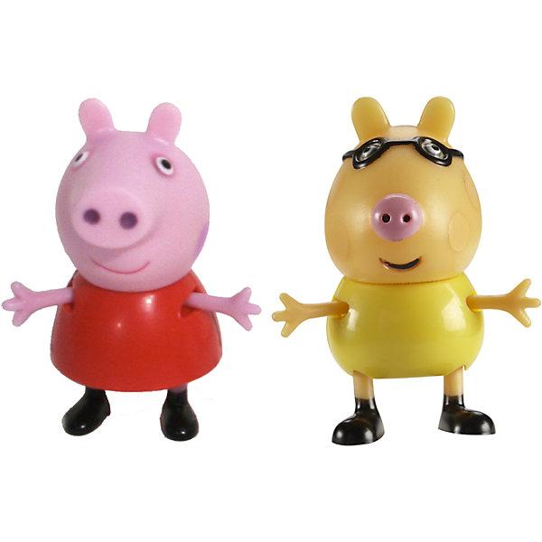 Игровой набор Пеппа и Педро, Свинка ПеппаИгровые наборы с фигурками<br>Добро пожаловать в мир Свинки Пеппы! С забавными игрушками из серии «Peppa Pig» веселые мультфильмы оживут прямо у вас дома, а малыши станут участниками увлекательных приключений Пеппы и ее друзей. В наборе Пеппа и Педро 2 фигурки, которые могут сидеть, стоять, двигать ручками и ножками. Игрушки выполнены из высококачественных экологичных материалов безопасных для детей. Собери всех героев известного мультсериала, проигрывай любимые сцены или придумывай свои новые истории! <br><br>Дополнительная информация:<br><br>- Материал: пластик.<br>- Руки, ноги фигурок подвижные. <br>- Размер фигурок: 5 см.<br><br>Игровой набор Пеппа и Педро Свинка Пеппа, можно купить в нашем магазине.<br><br>Ширина мм: 140<br>Глубина мм: 50<br>Высота мм: 155<br>Вес г: 85<br>Возраст от месяцев: 36<br>Возраст до месяцев: 72<br>Пол: Унисекс<br>Возраст: Детский<br>SKU: 4261815