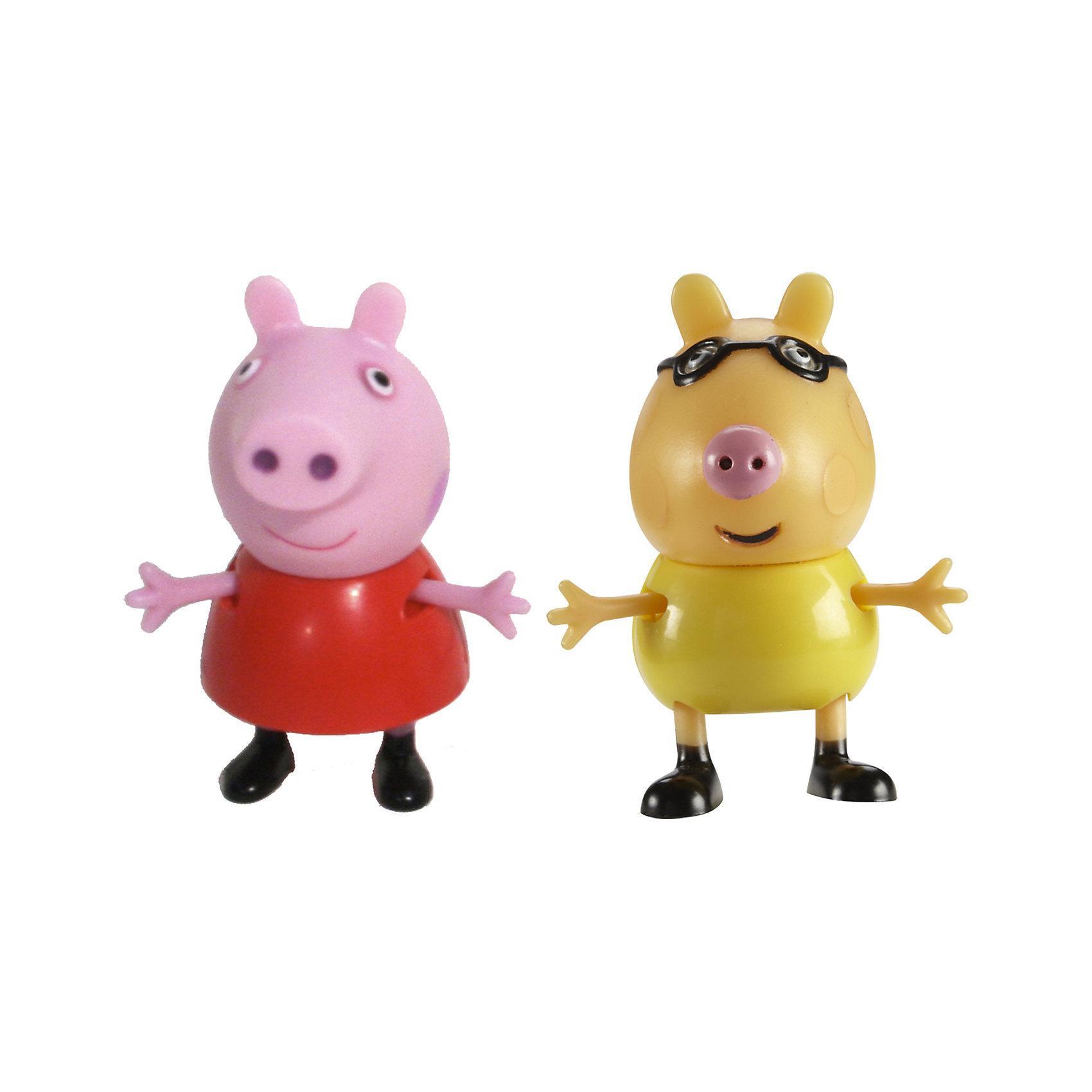 Игровой набор Пеппа и Педро, Свинка ПеппаДобро пожаловать в мир Свинки Пеппы! С забавными игрушками из серии «Peppa Pig» веселые мультфильмы оживут прямо у вас дома, а малыши станут участниками увлекательных приключений Пеппы и ее друзей. В наборе Пеппа и Педро 2 фигурки, которые могут сидеть, стоять, двигать ручками и ножками. Игрушки выполнены из высококачественных экологичных материалов безопасных для детей. Собери всех героев известного мультсериала, проигрывай любимые сцены или придумывай свои новые истории! <br><br>Дополнительная информация:<br><br>- Материал: пластик.<br>- Руки, ноги фигурок подвижные. <br>- Размер фигурок: 5 см.<br><br>Игровой набор Пеппа и Педро Свинка Пеппа, можно купить в нашем магазине.<br><br>Ширина мм: 140<br>Глубина мм: 50<br>Высота мм: 155<br>Вес г: 85<br>Возраст от месяцев: 36<br>Возраст до месяцев: 72<br>Пол: Унисекс<br>Возраст: Детский<br>SKU: 4261815