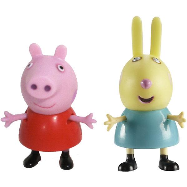Игровой набор Пеппа и Ребекка, Свинка ПеппаИгровые наборы с фигурками<br>Добро пожаловать в мир Свинки Пеппы! С забавными игрушками из серии «Peppa Pig» веселые мультфильмы оживут прямо у вас дома, а малыши станут участниками увлекательных приключений Пеппы и ее друзей. В наборе Пеппа и Ребекка 2 фигурки, которые могут сидеть, стоять, двигать ручками и ножками. Игрушки выполнены из высококачественных экологичных материалов безопасных для детей. Собери всех героев известного мультсериала, проигрывай любимые сцены или придумывай свои новые истории! <br><br>Дополнительная информация:<br><br>- Материал: пластик.<br>- Руки, ноги фигурок подвижные. <br>- Размер фигурок: 5 см.<br><br>Игровой набор Пеппа и Ребекка Свинка Пеппа, можно купить в нашем магазине.<br>Ширина мм: 140; Глубина мм: 50; Высота мм: 155; Вес г: 85; Возраст от месяцев: 36; Возраст до месяцев: 72; Пол: Унисекс; Возраст: Детский; SKU: 4261816;