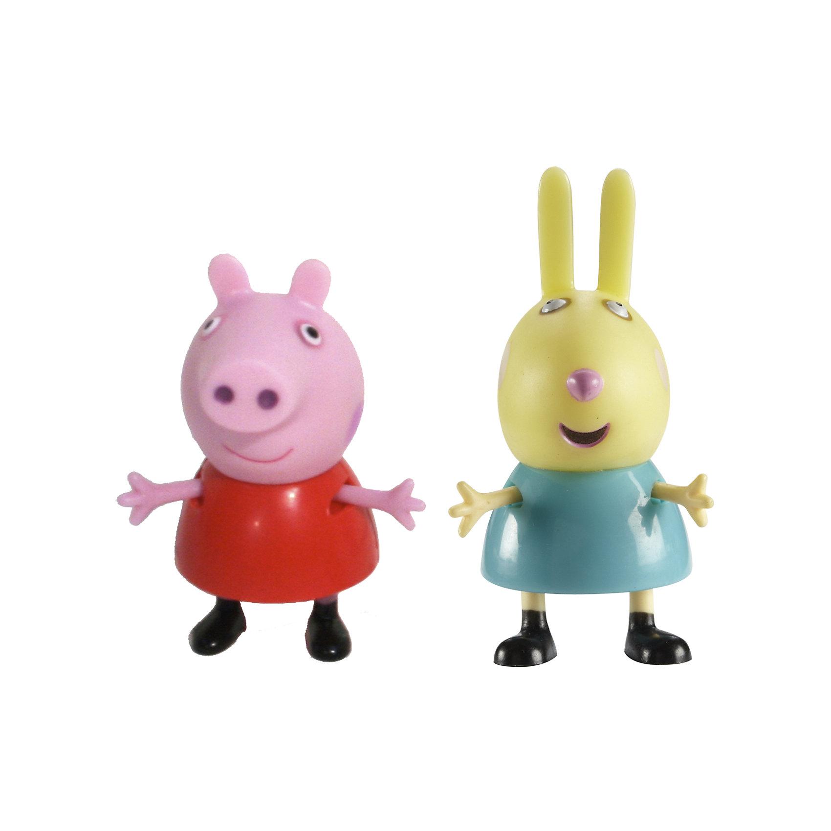 Росмэн Игровой набор Пеппа и Ребекка, Свинка Пеппа росмэн игровой набор поезд пеппы неваляшки свинка пеппа