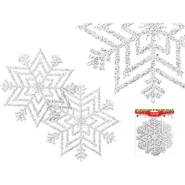 Украшение Снежинка с блестками (диаметр 28 см)Ёлочные игрушки<br>Украшение Снежинка с блестками - этот новогодний аксессуар создаст праздничное настроение.<br>Оригинальное новогоднее украшение выполнено из пластика в виде снежинки белого цвета, украшенной блестками. Этот новогодний аксессуар замечательно украсит новогодний интерьер и создаст праздничное настроение!<br><br>Дополнительная информация:<br><br>- В наборе: 1 снежинка<br>- Материал: пластик<br>- Диаметр: 28 см.<br>- Цвет: белый<br>- Вес:10 гр.<br><br>Украшение Снежинка с блестками можно купить в нашем интернет-магазине.<br><br>Ширина мм: 10<br>Глубина мм: 280<br>Высота мм: 280<br>Вес г: 10<br>Возраст от месяцев: 36<br>Возраст до месяцев: 1188<br>Пол: Унисекс<br>Возраст: Детский<br>SKU: 4262262