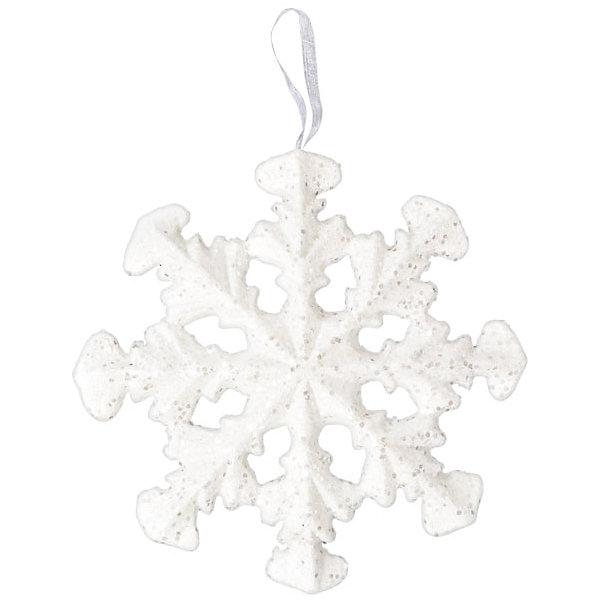 Подвесное украшение СнежинкаЁлочные игрушки<br>Подвесное украшение Снежинка - этот новогодний аксессуар создаст праздничное настроение.<br>Оригинальное новогоднее украшение выполнено из пенопласта в виде снежинки белого цвета, украшенной блестками. С помощью ленточки украшение можно повесить в любом понравившемся месте. Подвесное украшение Снежинка принесет в дом волшебство и ощущение праздника. Создайте в своем доме атмосферу веселья и радости!<br><br>Дополнительная информация:<br><br>- Диаметр: 28 см.<br>- Материал: пенопласт<br>- Цвет: белый<br><br>Подвесное украшение Снежинка можно купить в нашем интернет-магазине.<br><br>Ширина мм: 20<br>Глубина мм: 280<br>Высота мм: 280<br>Вес г: 40<br>Возраст от месяцев: 36<br>Возраст до месяцев: 1188<br>Пол: Унисекс<br>Возраст: Детский<br>SKU: 4262264