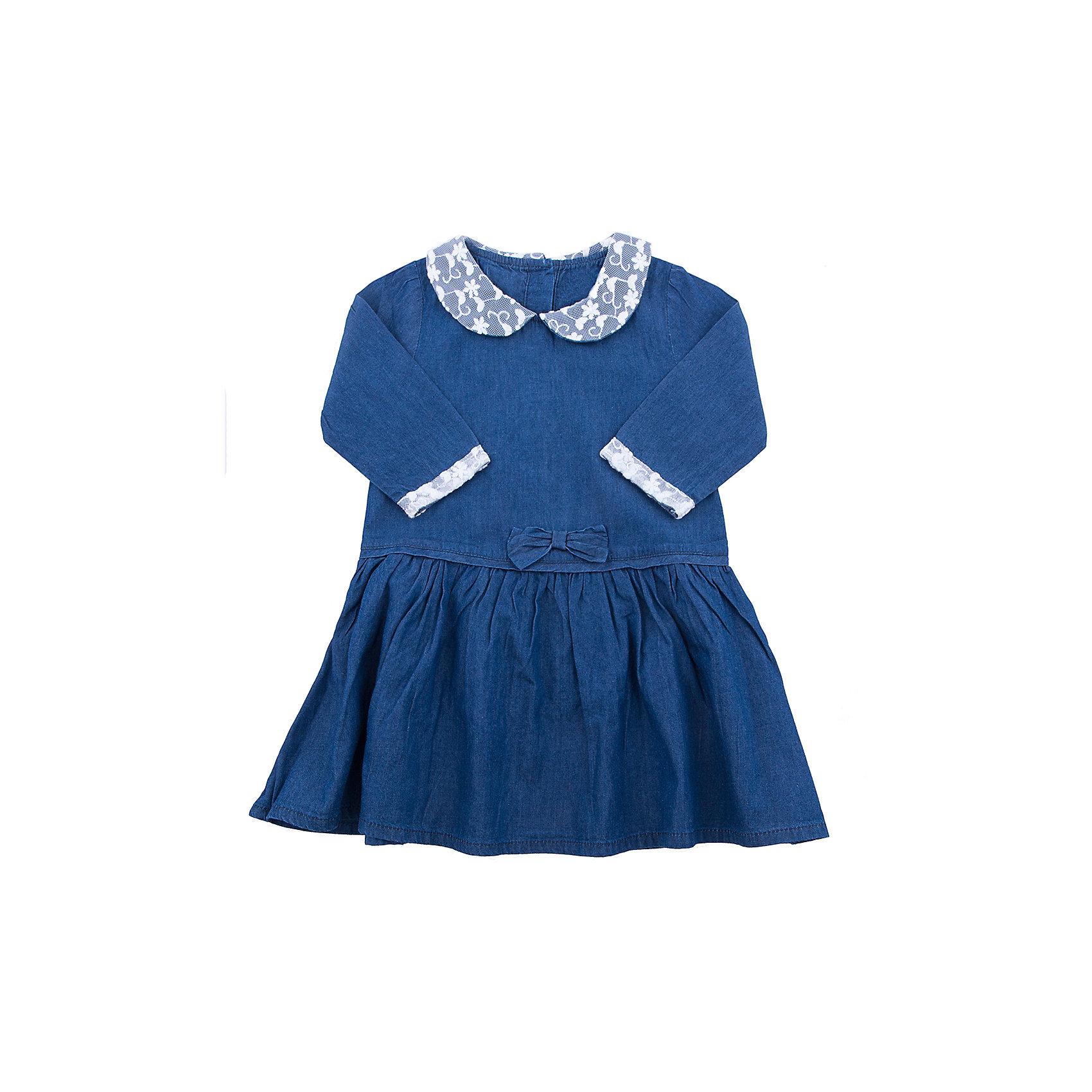 Платье для девочки MinotiПлатье для девочки от популярной английской марки Minoti<br><br>Легкое джинсовое платье отличается продуманным кроем и эффектным дизайном. Модель легко надевается, отлично смотрится, не стесняет движения. <br>Особенности модели:<br><br>- цвет: синий;<br>- материал - тонкая джинса;<br>- застежкки-пуговицы;<br>- рукава отделаны кружевом;<br>- небольшой бант на талии;<br>- отложной воротник, украшен кружевом;<br>- подол - присборен.<br><br>Дополнительная информация:<br><br>Состав:  100% хлопок<br><br>Уход за изделием:<br><br>стирка в машине при температуре до 30°С,<br>не отбеливать.<br><br>Платье для девочки от Minoti (Минотти) можно купить в нашем магазине<br><br>Ширина мм: 190<br>Глубина мм: 74<br>Высота мм: 229<br>Вес г: 236<br>Цвет: разноцветный<br>Возраст от месяцев: 12<br>Возраст до месяцев: 18<br>Пол: Женский<br>Возраст: Детский<br>Размер: 86/92,80/86,98/104,92/98<br>SKU: 4262972
