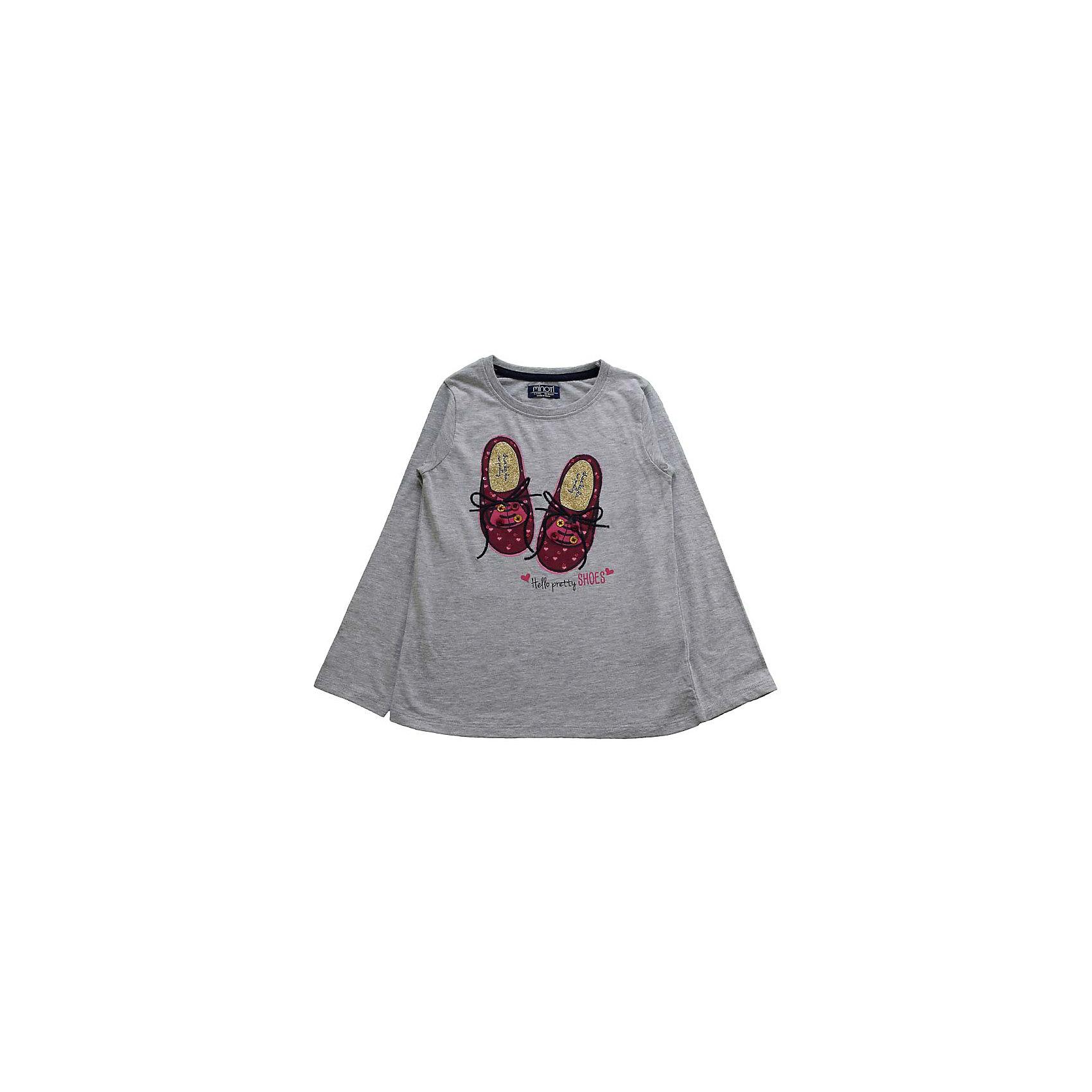 Футболка с длинным рукавом для девочки MinotiФутболка с длинным рукавом для девочки от популярной английской марки Minoti<br><br>Модная футболка отличается продуманным кроем и эффектным дизайном. Модель легко надевается, отлично смотрится, не стесняет движения. Материал содержит натуральный хлопок, гипоаллергенный, дышащий и приятный на ощупь.<br><br>Особенности модели:<br><br>- цвет: серый;<br>- рукав длинный;<br>- материал - трикотаж;<br>- принт с блестящими элементами и пуговицами;<br>- контрастная запечатка внутренних швов;<br>- ворот круглый, с окантовкой.<br><br>Дополнительная информация:<br><br>Состав: 100% хлопок<br><br>Уход за изделием:<br><br>стирка в машине при температуре до 30°С,<br>не отбеливать,<br>гладить на средней температуре.<br><br>Футболку с длинным рукавом для девочки от Minoti (Минотти) можно купить в нашем магазине<br><br>Ширина мм: 190<br>Глубина мм: 74<br>Высота мм: 229<br>Вес г: 236<br>Цвет: серый<br>Возраст от месяцев: 24<br>Возраст до месяцев: 36<br>Пол: Женский<br>Возраст: Детский<br>Размер: 92/98,80/86,86/92,98/104<br>SKU: 4263354