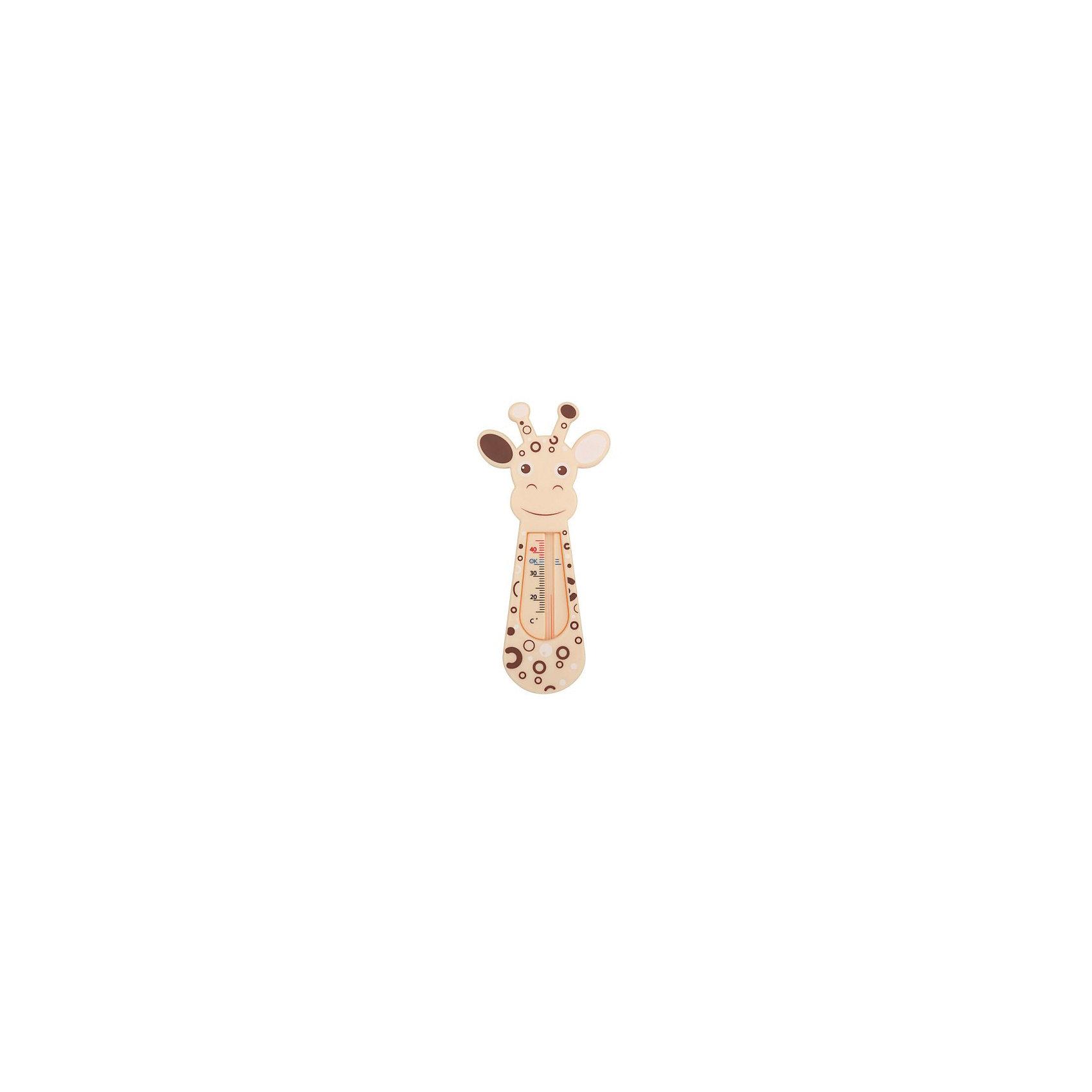 Термометр для воды Giraffe, Roxy-kidsТермометры<br>Яркий, весёлый и безопасный термометр для воды Giraffe позволит родителям быть уверенным в температуре воды в ванне. Термометр выполнен из высококачественных материалов, не содержит ртути, абсолютно безопасен для детей.  <br><br>Дополнительная информация:<br><br>- Материал: полистирол, керосин.<br>- Размер упаковки: 10х22,5х10 см. <br><br>Термометр для воды Giraffe, Roxy-kids, можно купить в нашем магазине.<br><br>Ширина мм: 100<br>Глубина мм: 225<br>Высота мм: 10<br>Вес г: 100<br>Возраст от месяцев: 0<br>Возраст до месяцев: 36<br>Пол: Унисекс<br>Возраст: Детский<br>SKU: 4264179
