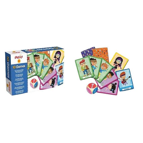 LUDATTICA Игра настольная 10 ИГР (10 в 1)Настольные игры для всей семьи<br>Характеристики:<br><br>• размер: 22,5х13,5х4,5 см.;<br>• упаковка: коробка картон;<br>• материал: картон;<br>• вес: 4,5кг.;<br>• для детей в возрасте: от 3 лет;<br>• страна производитель: Италия;<br><br>Настольная игра «10 игр» (10в1) Ludattica (Лудаттика) разработана в Центре Исследований и Разработки Lisciani (Лициани) станет хорошим подарком для девочек и мальчишек.<br><br>Развивающая игра доступный способ восприятия информации для детей. В игровой форме с героями, изображёнными на карточках ребёнок узнает много нового.<br><br>Игра включает в себя: кубик и две колоды по двадцать пять карточек, на них изображены дети увлечённые разными профессиями. Набор состоит из десяти разных игр, в которых могут принимать участие все члены семьи.<br><br>Играя с карточками дети развивают логику, память, внимательность, фантазию, усидчивость, просто весело и с пользой проведут время.<br><br>Настольная игра «10 игр»(10в1) Ludattica (Лудаттика) можно купить в нашем интернет-магазине.<br>Ширина мм: 230; Глубина мм: 144; Высота мм: 50; Вес г: 739; Возраст от месяцев: 36; Возраст до месяцев: 72; Пол: Унисекс; Возраст: Детский; SKU: 4264831;