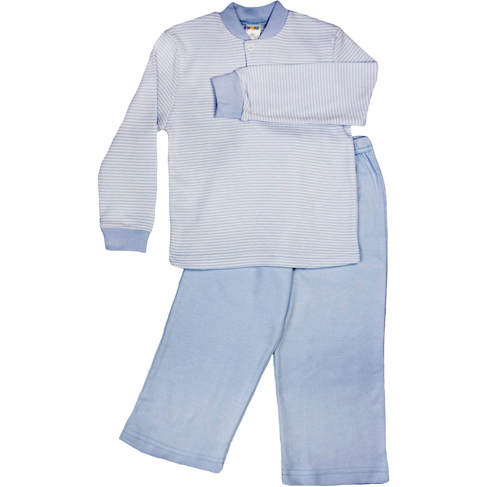 Пижама ДамонтУютная пижама для мальчика , состоящая из кофты и брюк, идеально подойдет вашему ребенку и станет отличным дополнением к детскому гардеробу. Изготовленная из натурального хлопка, она необычайно мягкая и легкая, не сковывает движения, позволяет коже дышать и не раздражает даже самую нежную и чувствительную кожу ребенка. В такой пижаме ваш ребенок будет чувствовать себя комфортно и уютно во время сна.<br><br>Состав: 100% хлопок<br><br>Ширина мм: 157<br>Глубина мм: 13<br>Высота мм: 119<br>Вес г: 200<br>Цвет: голубой<br>Возраст от месяцев: 12<br>Возраст до месяцев: 15<br>Пол: Унисекс<br>Возраст: Детский<br>Размер: 80,98,104,86,92<br>SKU: 4265014