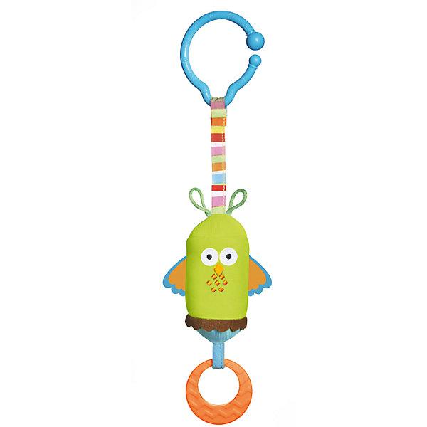 Игрушка подвесная Сова, Tiny LoveИгрушки для новорожденных<br>Подвесная игрушка «Сова», которую удобно брать с собой на прогулку или в поездку, несомненно порадует вашего малыша!<br><br>Приятный звук колокольчиков поощряет ребенка тянуться к игрушке и пытаться ее схватить.<br>Красивый и красочный дизайн особо подходит для развивающегося зрения ребенка в течение первого года.<br>У Совы есть колечко, за которое малыш легко ухватит погремушку.<br>Простое и удобное крепление подойдет для кроваток, колясок, дуг развивающего коврика и автокресел.<br><br>Ширина мм: 465<br>Глубина мм: 415<br>Высота мм: 315<br>Вес г: 100<br>Возраст от месяцев: 0<br>Возраст до месяцев: 12<br>Пол: Унисекс<br>Возраст: Детский<br>SKU: 4265534