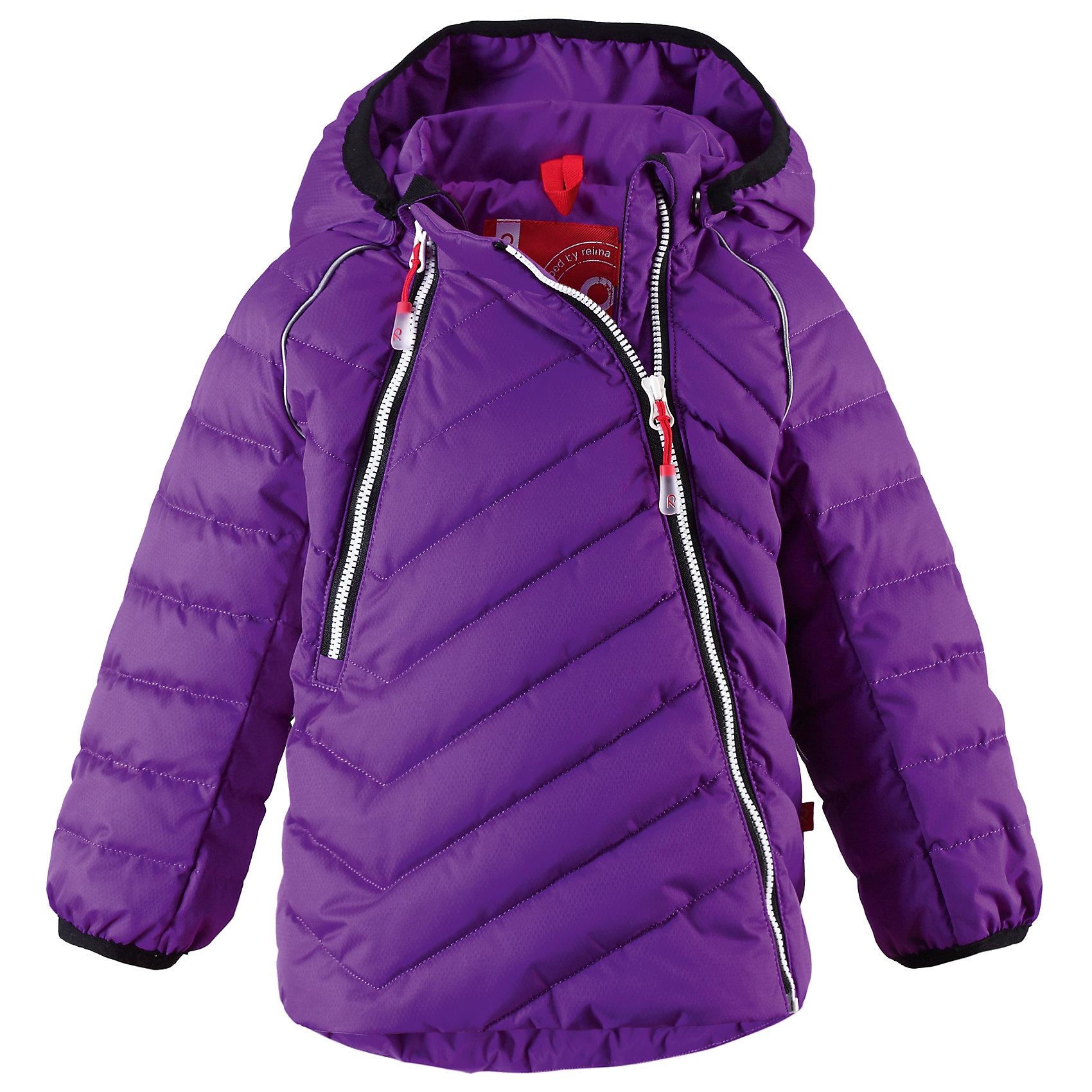 Куртка для девочки ReimaСтеганый пуховик с ярким рисунком для стильной зимы. Водонепроницаемая и ветрозащитная.<br><br>Дополнительная информация:<br><br>Высокая степень утепления: до -30<br>Детский пуховик<br>Ассиметричная застежка-молния спереди<br>Эластичные манжеты<br>Шнурок для регулирования размера на подоле<br>Отражающий кант<br>Съемный капюшон<br>Состав: 100% Полиэстер<br><br>Куртку  Reima (Рейма) можно купить в нашем магазине.<br><br>Ширина мм: 356<br>Глубина мм: 10<br>Высота мм: 245<br>Вес г: 519<br>Цвет: фиолетовый<br>Возраст от месяцев: 6<br>Возраст до месяцев: 9<br>Пол: Женский<br>Возраст: Детский<br>Размер: 74,80,86,92,98<br>SKU: 4268521