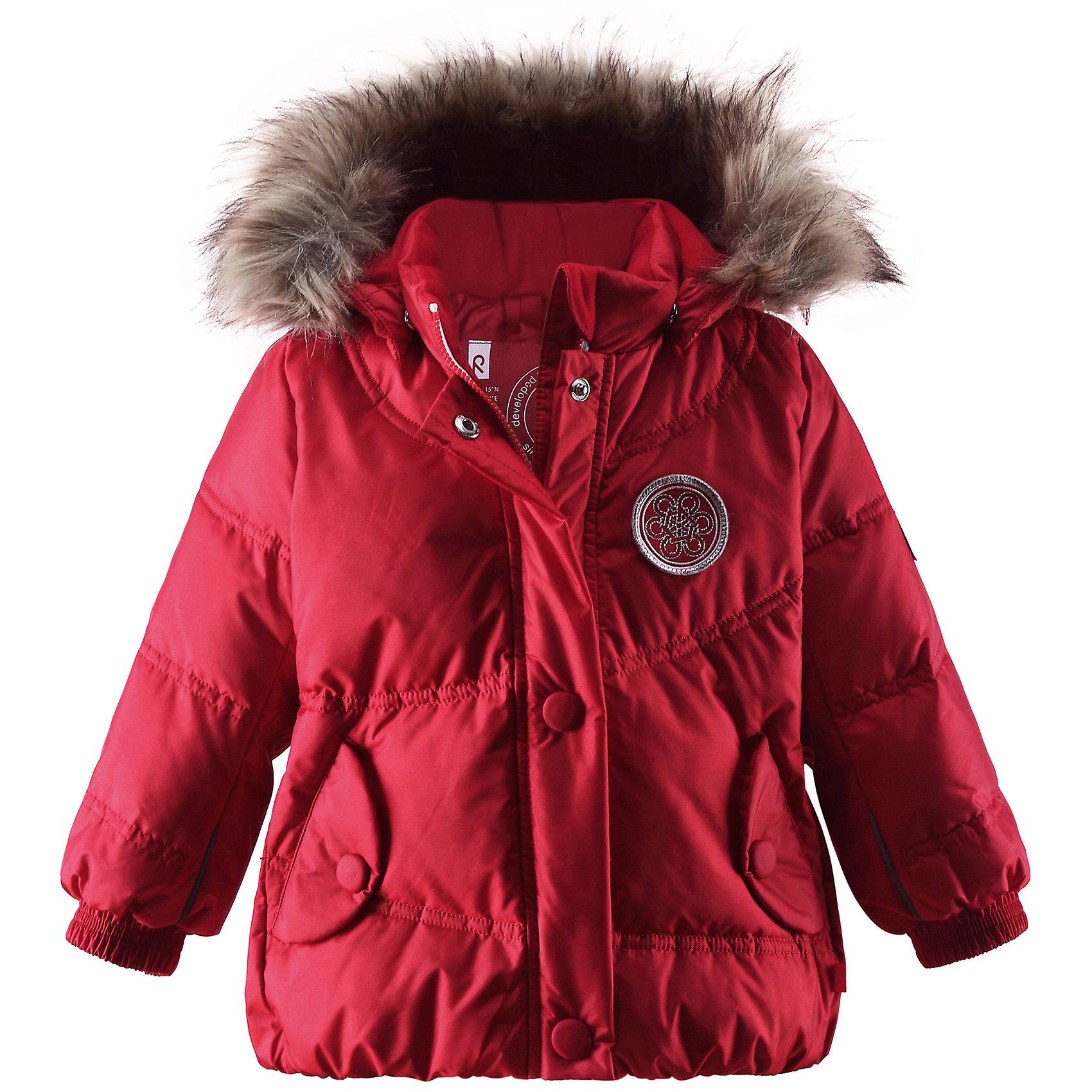 Пальто  ReimaС высокой степенью водостойкости, стильная зимняя куртка для города и природы. Очень теплая.<br><br>Дополнительная информация:<br><br>Температурный режим: до -30<br>Водоотталкивающий пуховик, модель для девочек<br>Эластичный пояс сзади<br>Съемная отделка из искусственного меха на съемном капюшоне<br>Два кармана под планками<br>Состав: 55% Полиамид 45% Полиэстер, Полиуретан-покрытие<br><br>Пальто  Reima можно купить в нашем магазине.<br><br>Ширина мм: 356<br>Глубина мм: 10<br>Высота мм: 245<br>Вес г: 519<br>Цвет: красный<br>Возраст от месяцев: 18<br>Возраст до месяцев: 24<br>Пол: Унисекс<br>Возраст: Детский<br>Размер: 92,74,86,80<br>SKU: 4268544