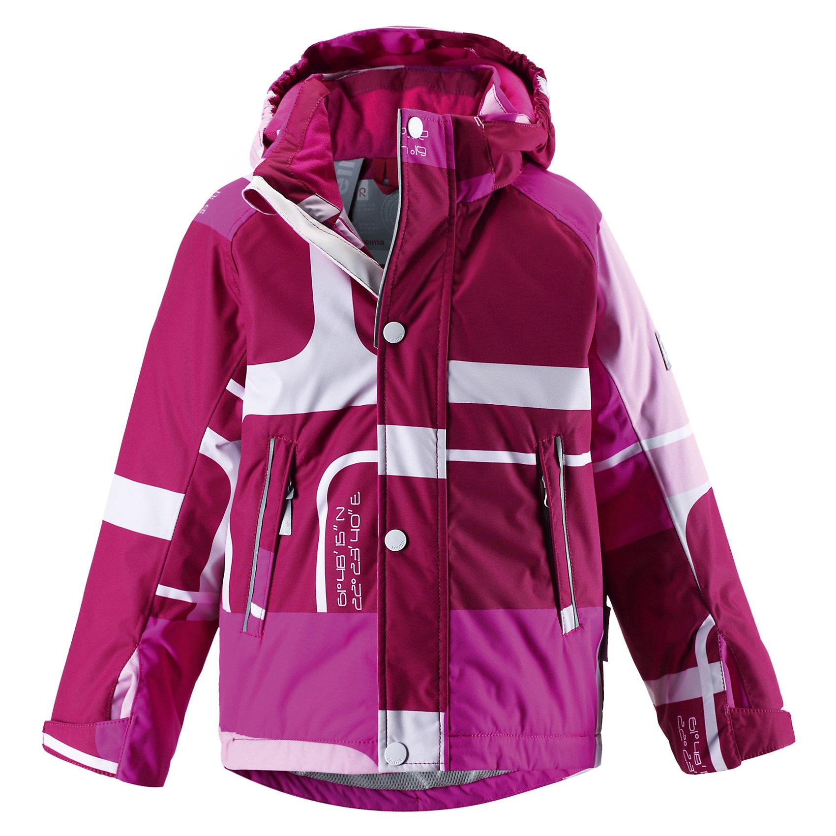 Куртка Reimatec для девочки ReimaОдежда<br>Эта стильная водонепроницаемая зимняя куртка подходит для отдыха на природе и катания.<br><br>Дополнительная информация:<br><br>Температурный режим: до -20<br>Средняя степень утепления (140 г)<br>Специальные кнопки Reima Play Layers для пристегивания промежуточного слоя к верхней одежде<br>Куртка для детей<br>Все швы проклеены<br>Зимняя подкладка<br>Съемный капюшон<br>Внутри подтяжки<br>Два кармана на молниях<br>Светоотражающие детали<br>Состав: 100% Полиэстер, Полиуретан-покрытие<br><br>Куртка Reimatec Reima можно купить в нашем магазине.<br><br>Ширина мм: 356<br>Глубина мм: 10<br>Высота мм: 245<br>Вес г: 519<br>Цвет: розовый<br>Возраст от месяцев: 48<br>Возраст до месяцев: 60<br>Пол: Женский<br>Возраст: Детский<br>Размер: 110,92,98,134,122,116,104,128,140<br>SKU: 4268850