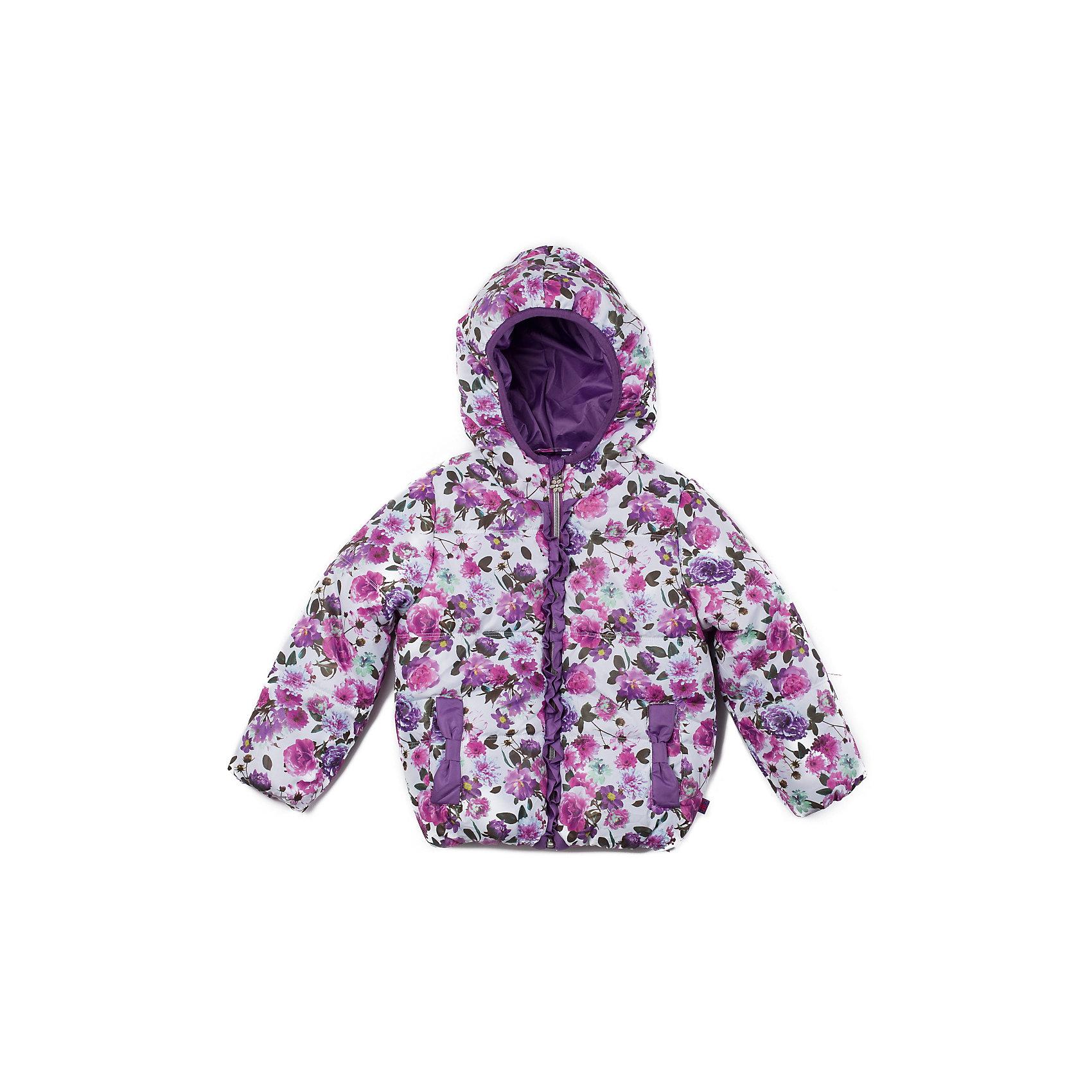 Куртка для девочки Sweet BerryКуртка утепленная для девочки на флисовой подкладке, с нежным цветочным принтом, кокетливыми рюшами и карманами - бантиками.<br>Состав:<br>Верх: 100% полиэстер, Подкладка: 100%полиэстер, Наполнитель: 100%полиэстер<br><br>Ширина мм: 356<br>Глубина мм: 10<br>Высота мм: 245<br>Вес г: 519<br>Цвет: разноцветный<br>Возраст от месяцев: 9<br>Возраст до месяцев: 12<br>Пол: Женский<br>Возраст: Детский<br>Размер: 80,98,92,86<br>SKU: 4272670
