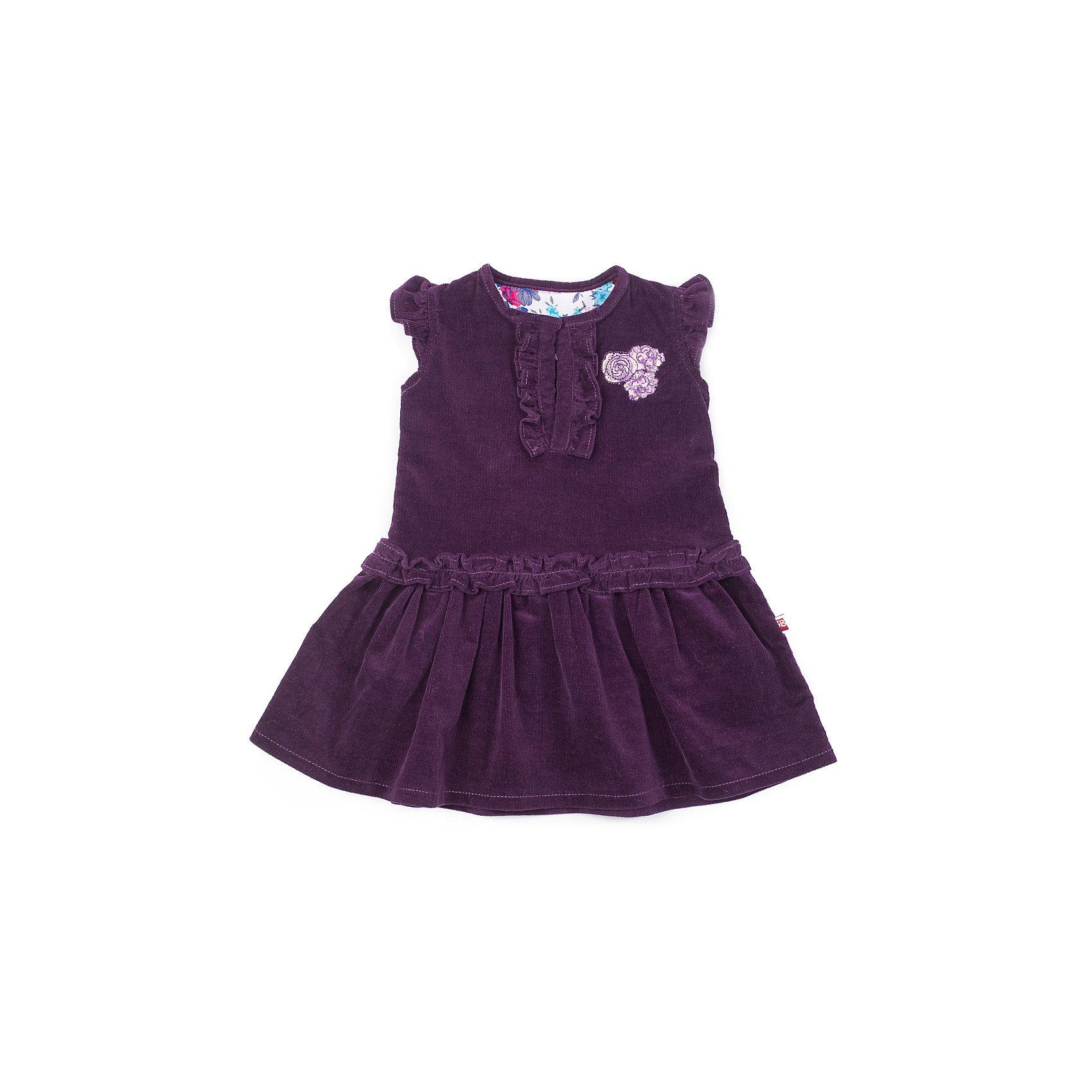 Сарафан Sweet BerryСарафан вельветовый на девочку, рукава - крылышки, украшен рюшами, планкой с пуговками и вышивкой.<br>Состав:<br>98% хлопок, 2% эластан<br><br>Ширина мм: 236<br>Глубина мм: 16<br>Высота мм: 184<br>Вес г: 177<br>Цвет: фиолетовый<br>Возраст от месяцев: 9<br>Возраст до месяцев: 12<br>Пол: Женский<br>Возраст: Детский<br>Размер: 80,92,98,86<br>SKU: 4272690