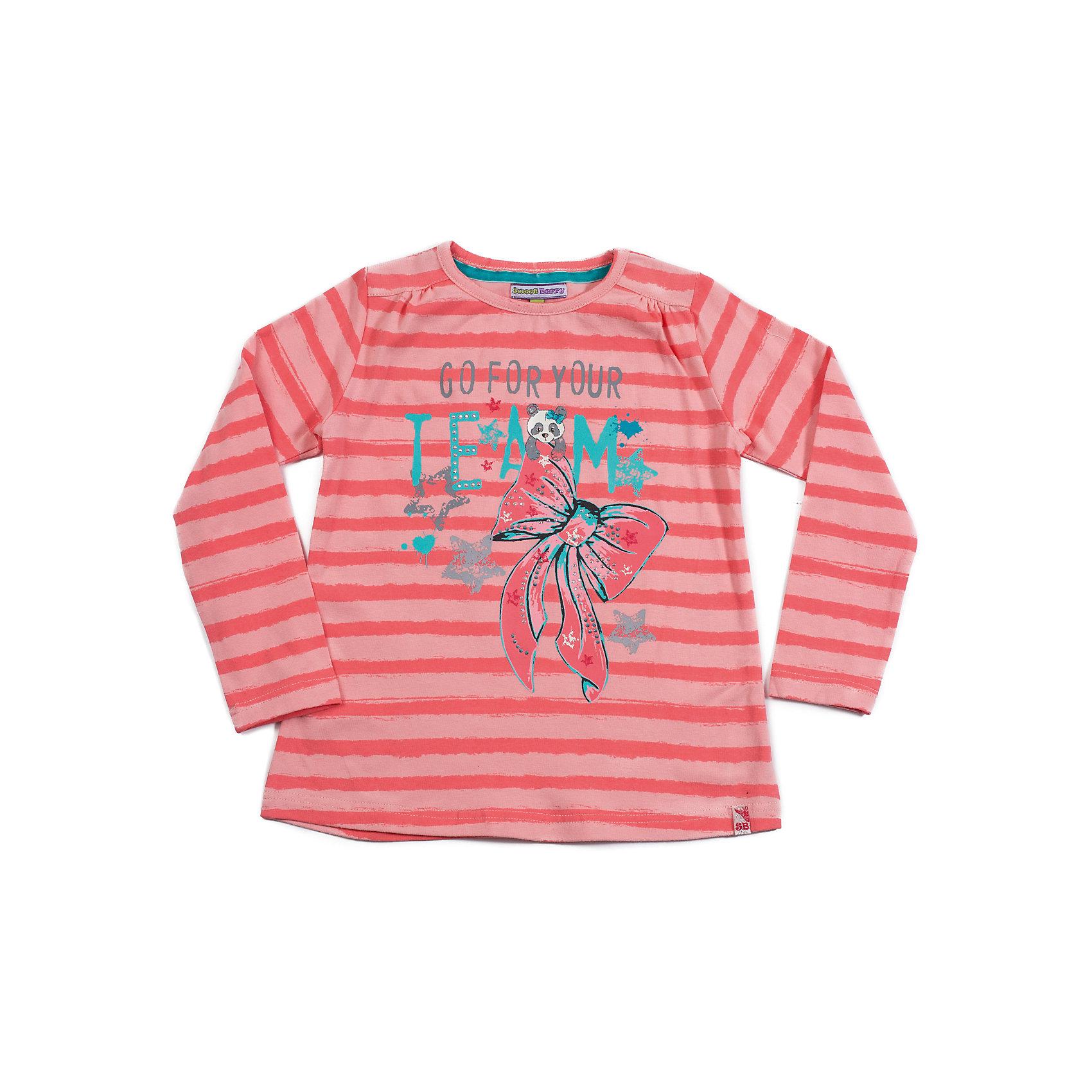 Футболка с длинным рукавом для девочки Sweet BerryФутболки с длинным рукавом<br>Модная футболка с длинным рукавом А-силуэта для девочки, в полоску, декорирована принтом со стразами.<br>Состав:<br>95% хлопок, 5% эластан<br><br>Ширина мм: 230<br>Глубина мм: 40<br>Высота мм: 220<br>Вес г: 250<br>Цвет: розовый<br>Возраст от месяцев: 60<br>Возраст до месяцев: 72<br>Пол: Женский<br>Возраст: Детский<br>Размер: 116,110,122,104,98,128<br>SKU: 4272882